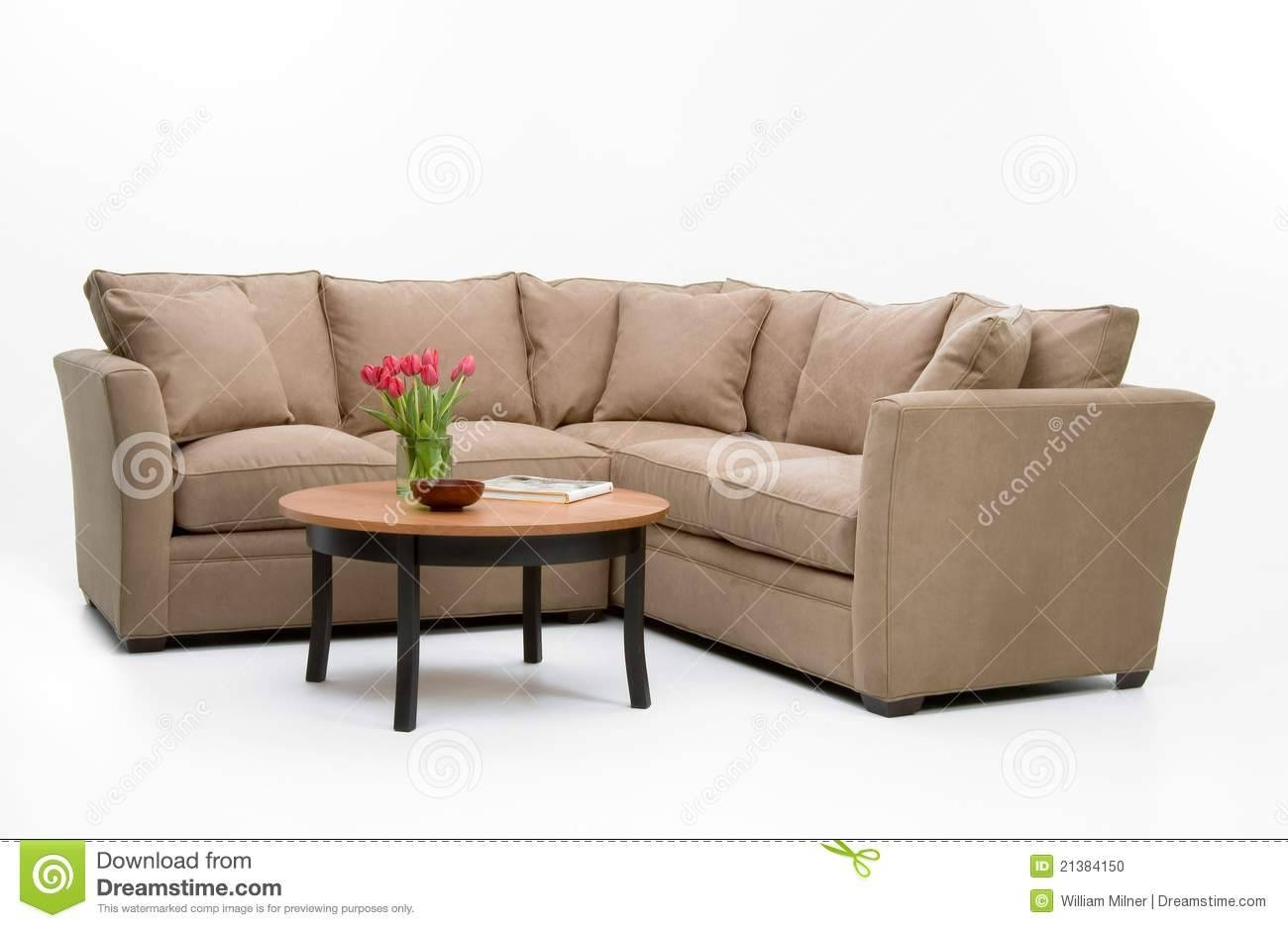 Fabric Sofa Set & Table Stock Photo - Image: 21384150 throughout Sofa Table Chairs (Image 15 of 30)