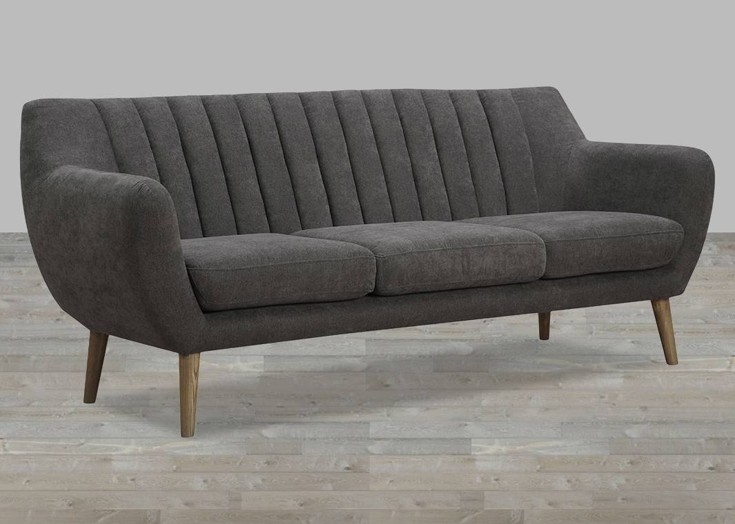 Fabric Sofa With Quilted Back for Fabric Sofas (Image 8 of 30)