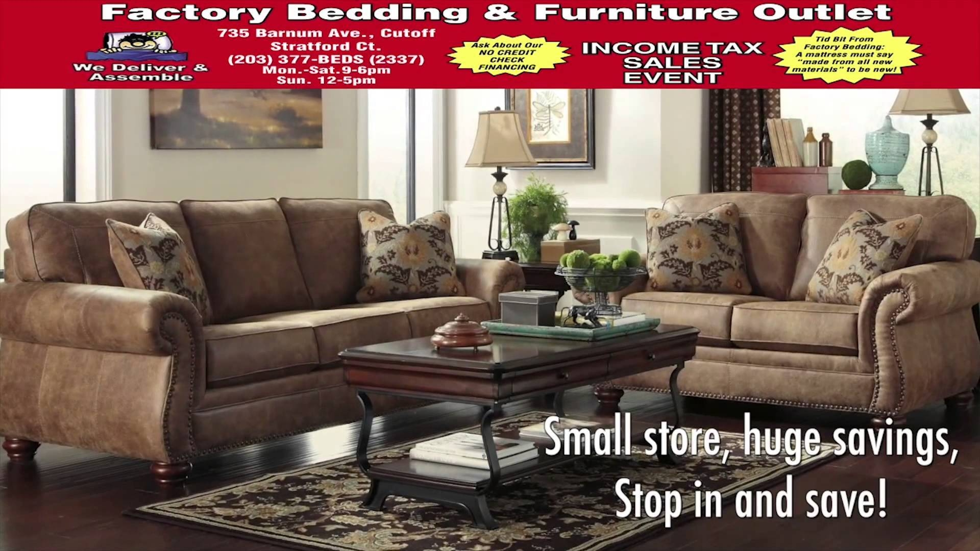 Factory Bedding And Furniture Outlet Stratford, Ct - Youtube regarding Stratford Sofas (Image 7 of 30)