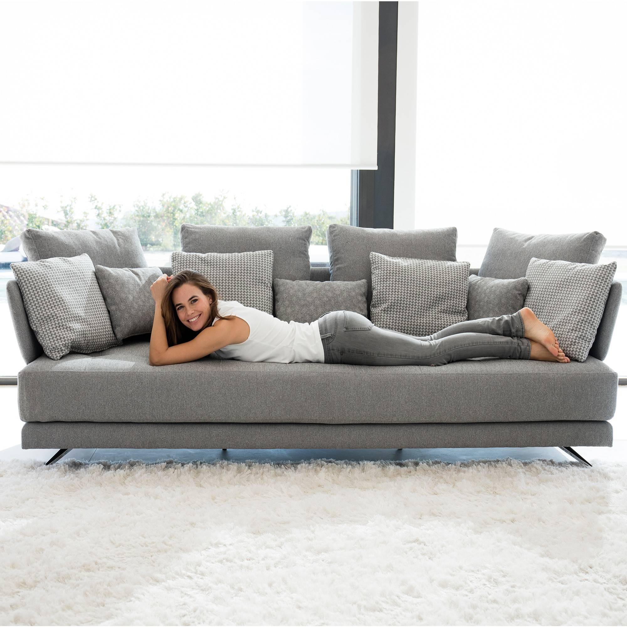 Fama Pacific 4 Seater Sofa - Fabric Sofas - Cookes Furniture throughout Large 4 Seater Sofas (Image 8 of 30)