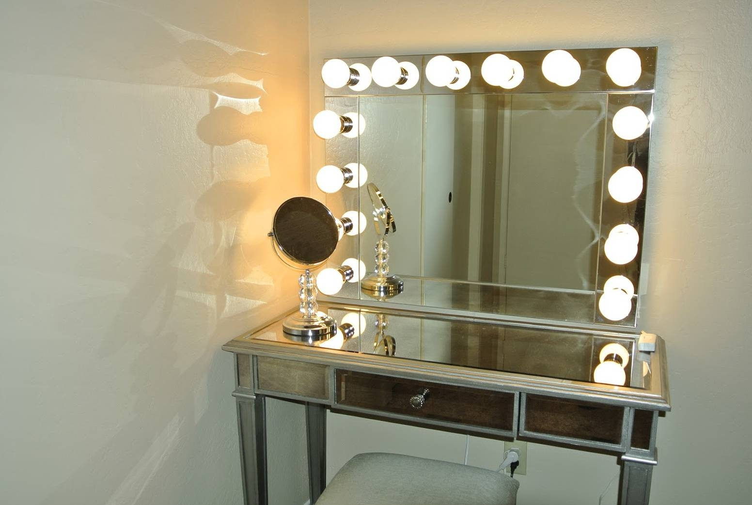 Fancy Decorating Ideas Using Rectangular Silver Metal Dressers And inside Small Silver Mirrors (Image 7 of 25)