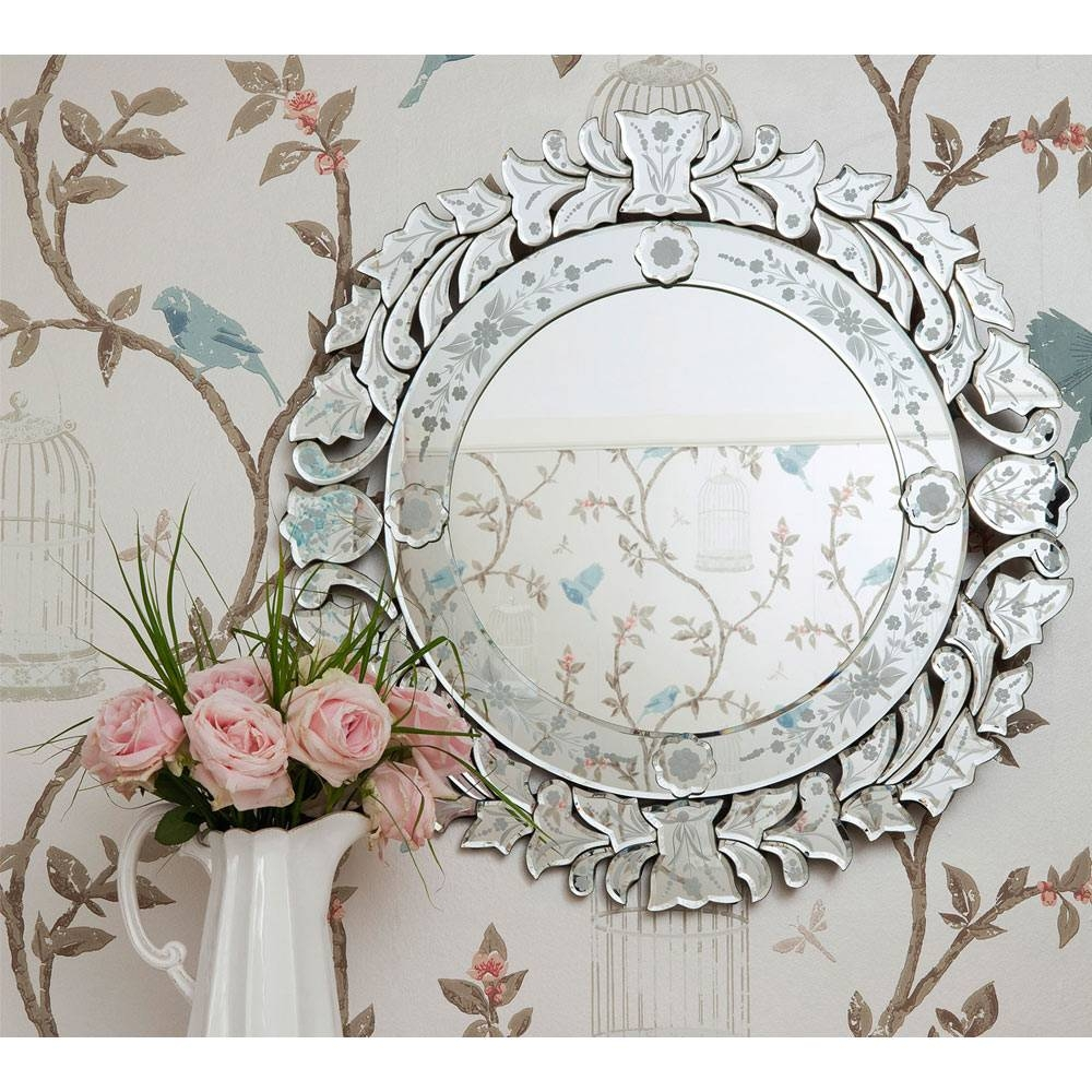 Fancy Floris Venetian Glass Mirror | Luxury Mirror throughout Venetian Wall Mirrors (Image 7 of 25)