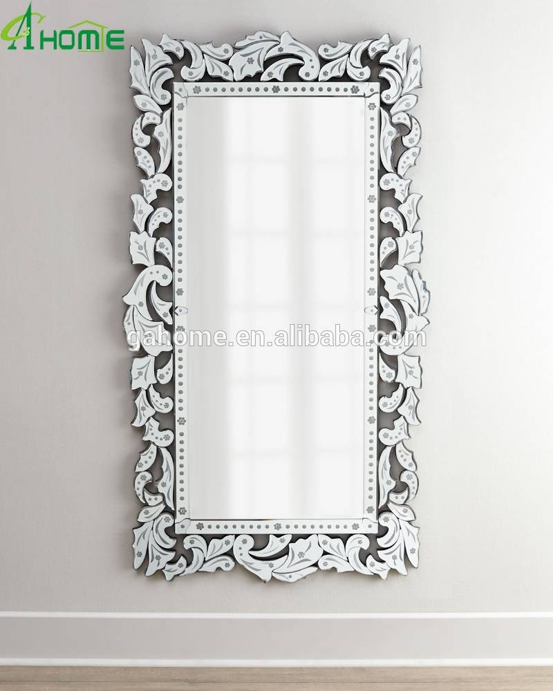 Fancy Full Length Long Decorative Venetian Wall Mirror - Buy Full in Long Venetian Mirrors (Image 11 of 25)