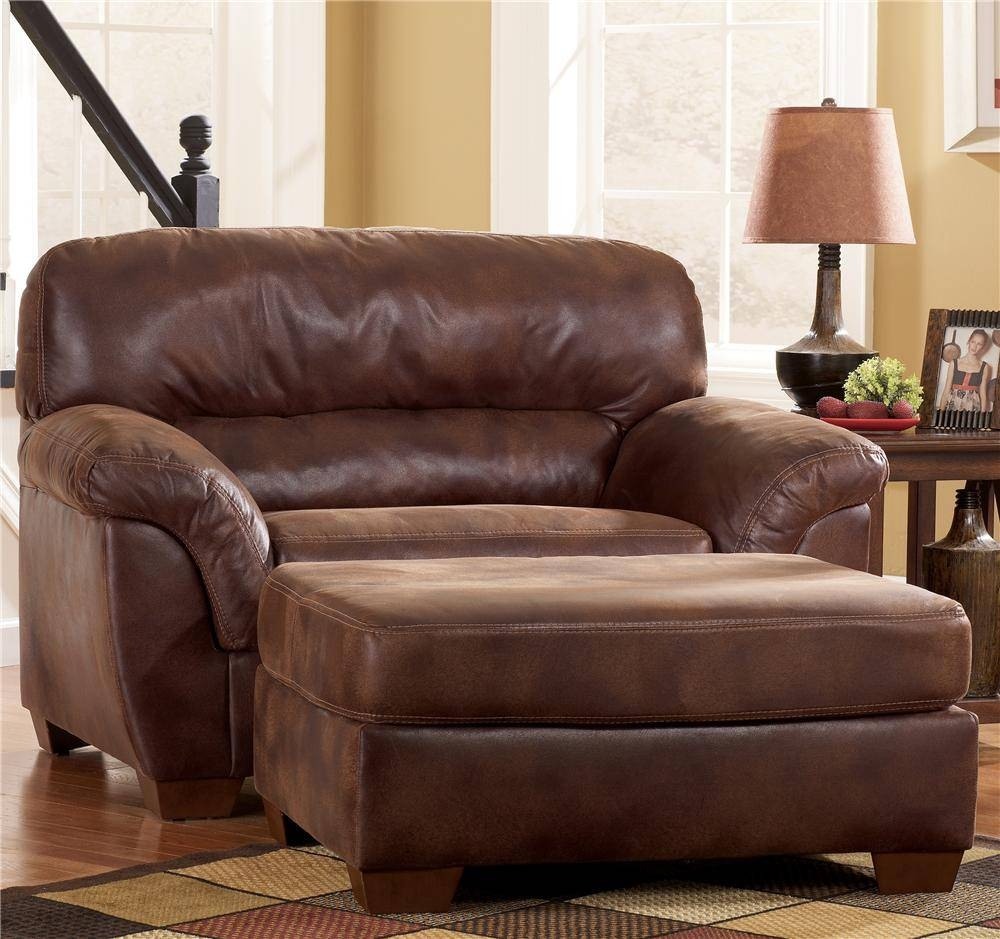 Fancy Leather Chair And A Half With Ottoman 29 In Living Room Sofa regarding Sofa Chair With Ottoman (Image 12 of 30)