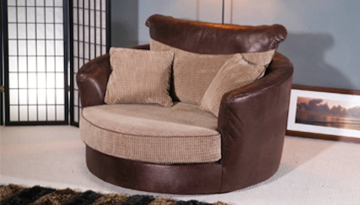 Fancy Round Swivel Sofa Chair And Oversized Large Cuddle Chairs within Snuggle Sofas (Image 12 of 30)