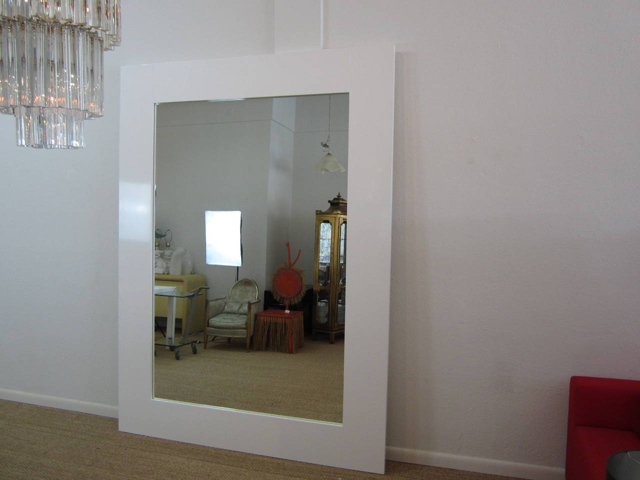 Fantastic Eight-Foot Floor Standing Mirror In Gloss White with regard to Large Floor Standing Mirrors (Image 10 of 25)