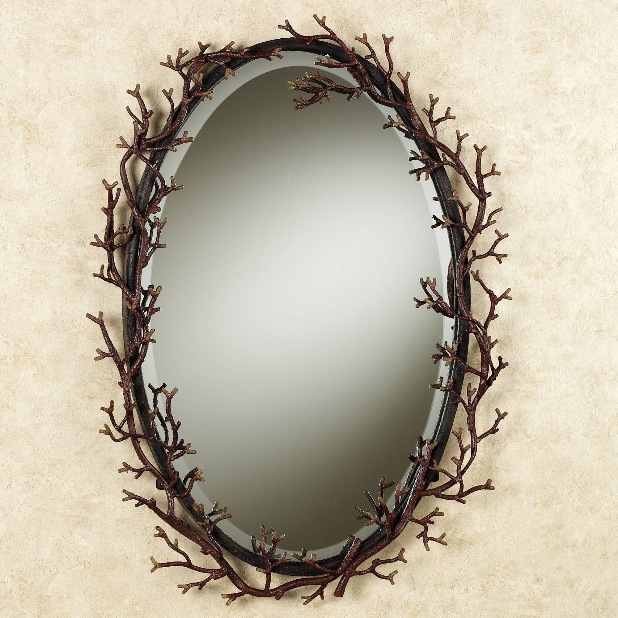 Fantastic Rectangular Wall Mirrors With Black Wooden Frames As inside Black Oval Wall Mirrors (Image 6 of 25)