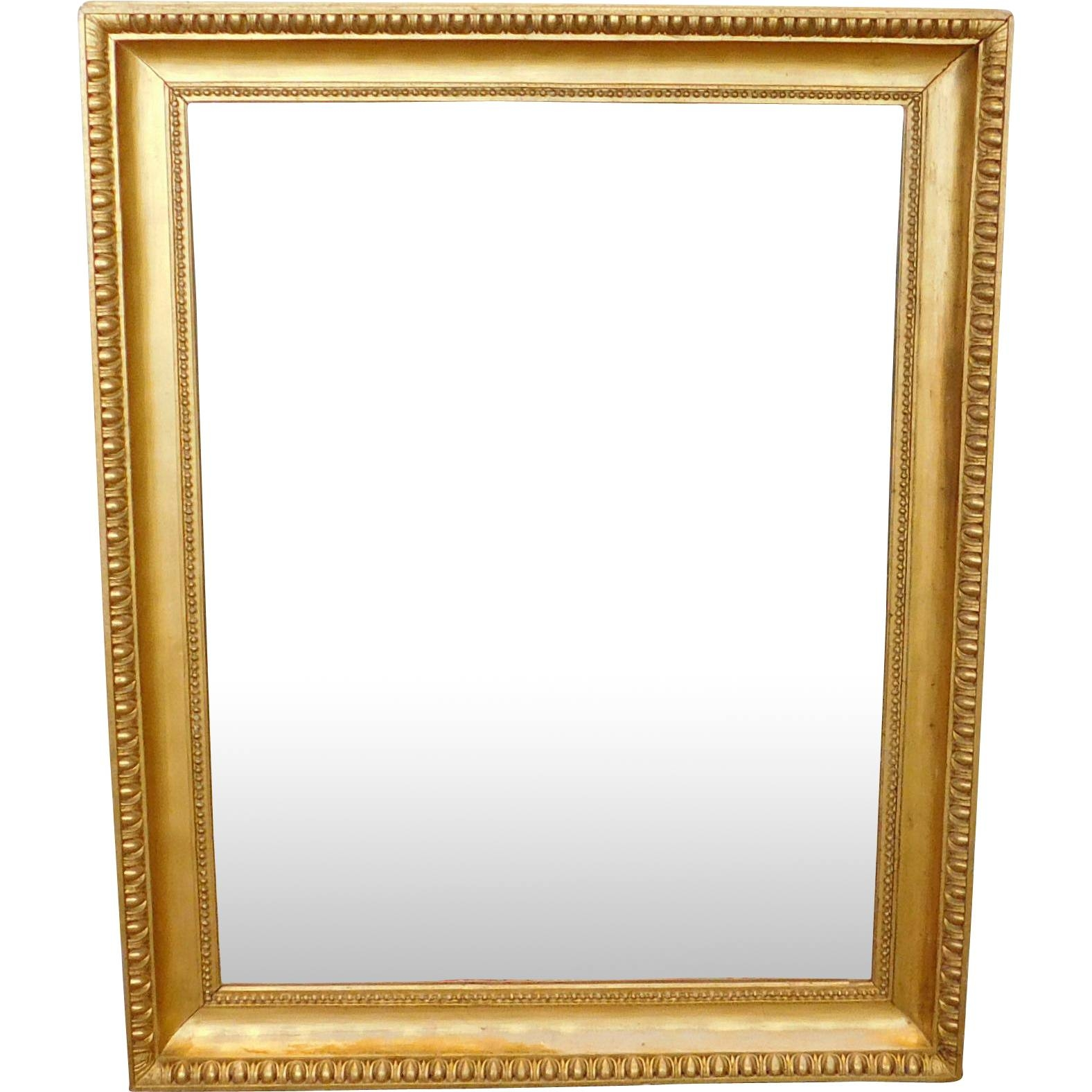 Fantastic Regency Style Gilded Frame Rectangular Hanging Wall for Antique Gilded Mirrors (Image 21 of 25)