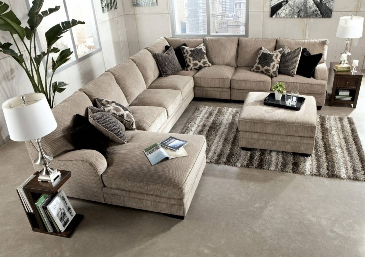 Fantastic Sectional Sofa With Oversized Ottoman - Sectional Sofas throughout Sectional Sofa With Oversized Ottoman (Image 3 of 30)