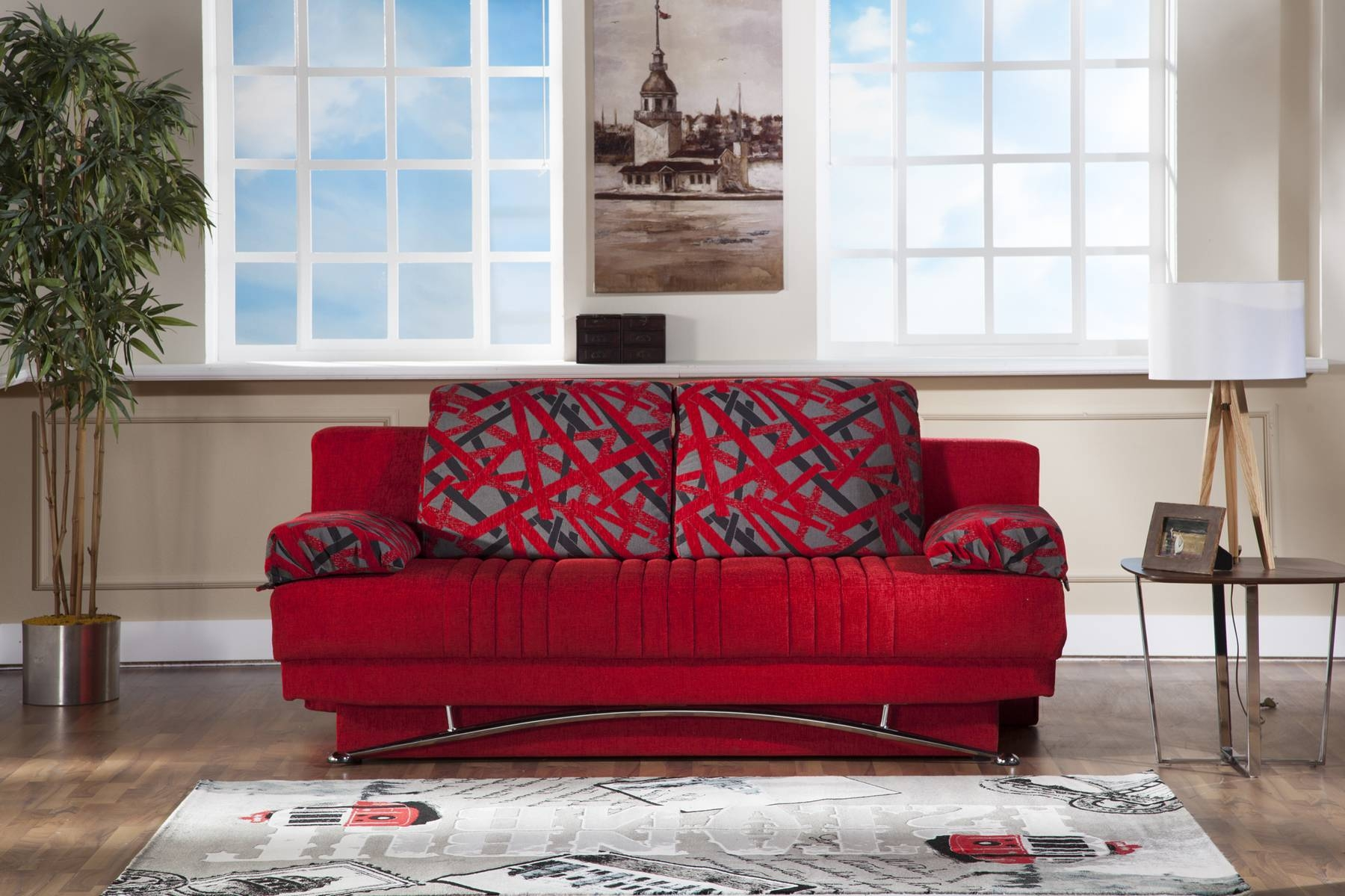 Fantasy Red Sofa Bed Sufantasy Sunset Furniture Sleepers, Sofa in Red Sleeper Sofa (Image 7 of 30)