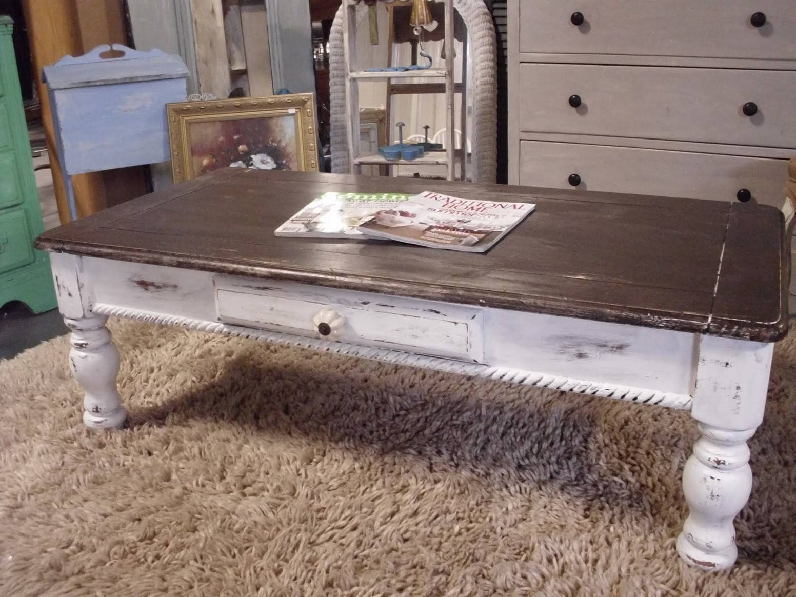 Farmhouse Coffee Table With Tons Of Beautiful Ideas Inside Chunky Coffee Tables (View 12 of 30)