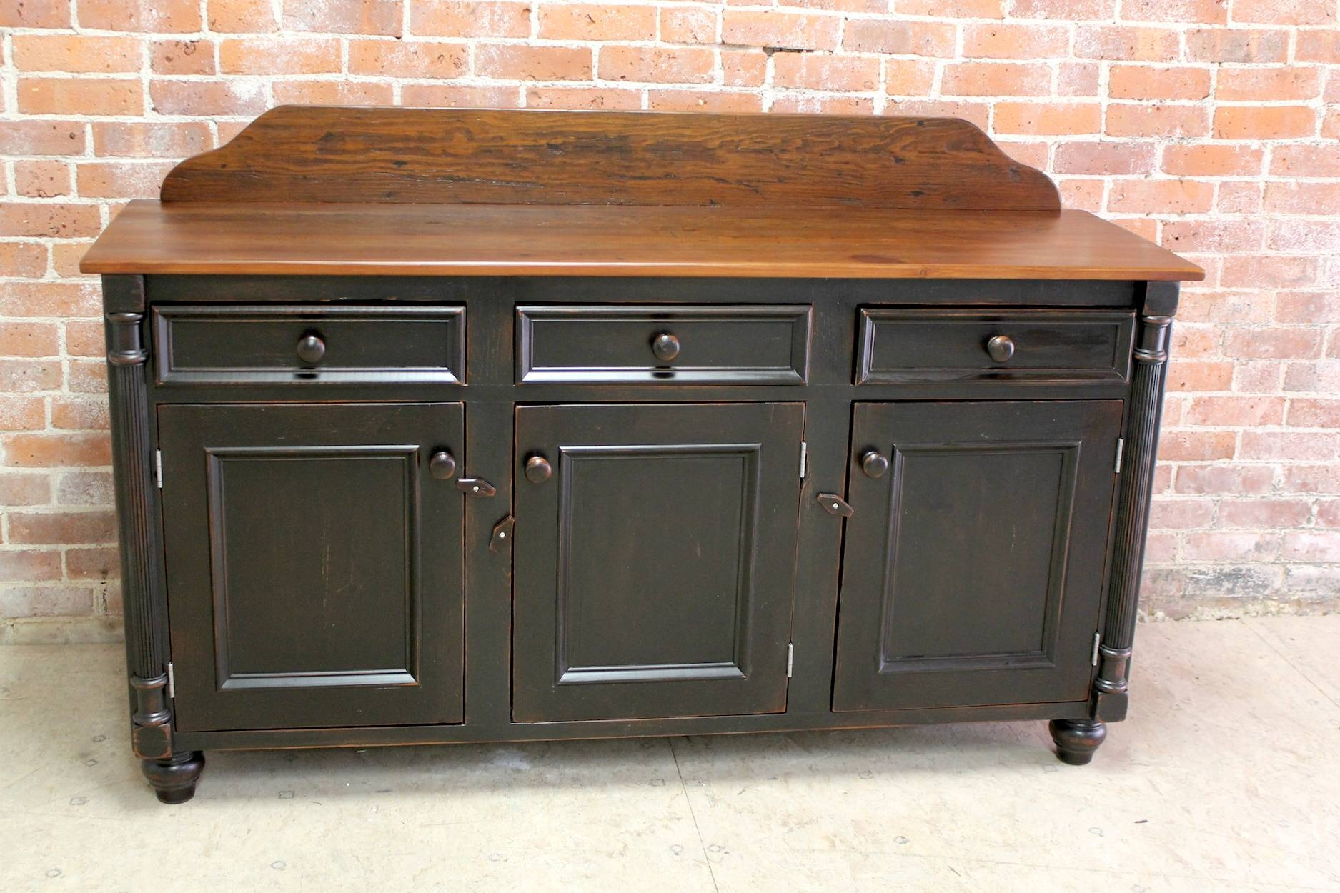 Farmhouse Sideboard Buffets regarding Cheap Black Sideboards (Image 9 of 30)
