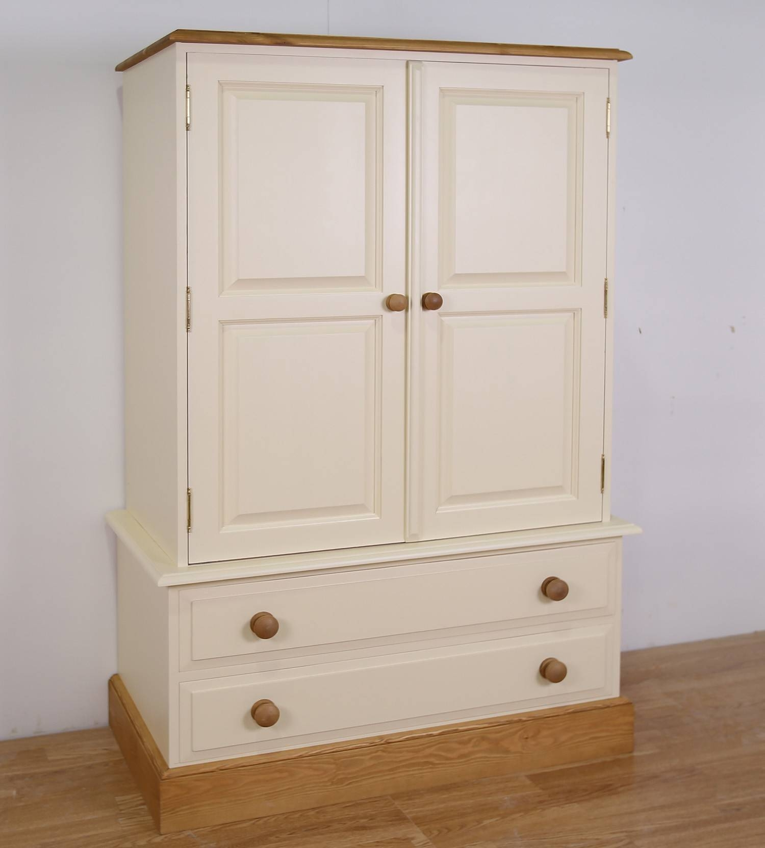 Farrow & Ball Painted Children's Wardrobe With Drawers throughout Painted Wardrobes (Image 3 of 15)