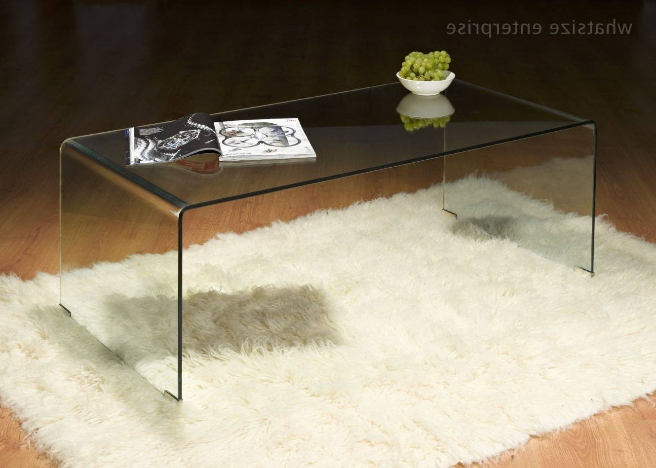 Fascinating Bent Glass Coffee Table With Shelf – Bent Glass Coffee within Curved Glass Coffee Tables (Image 21 of 30)