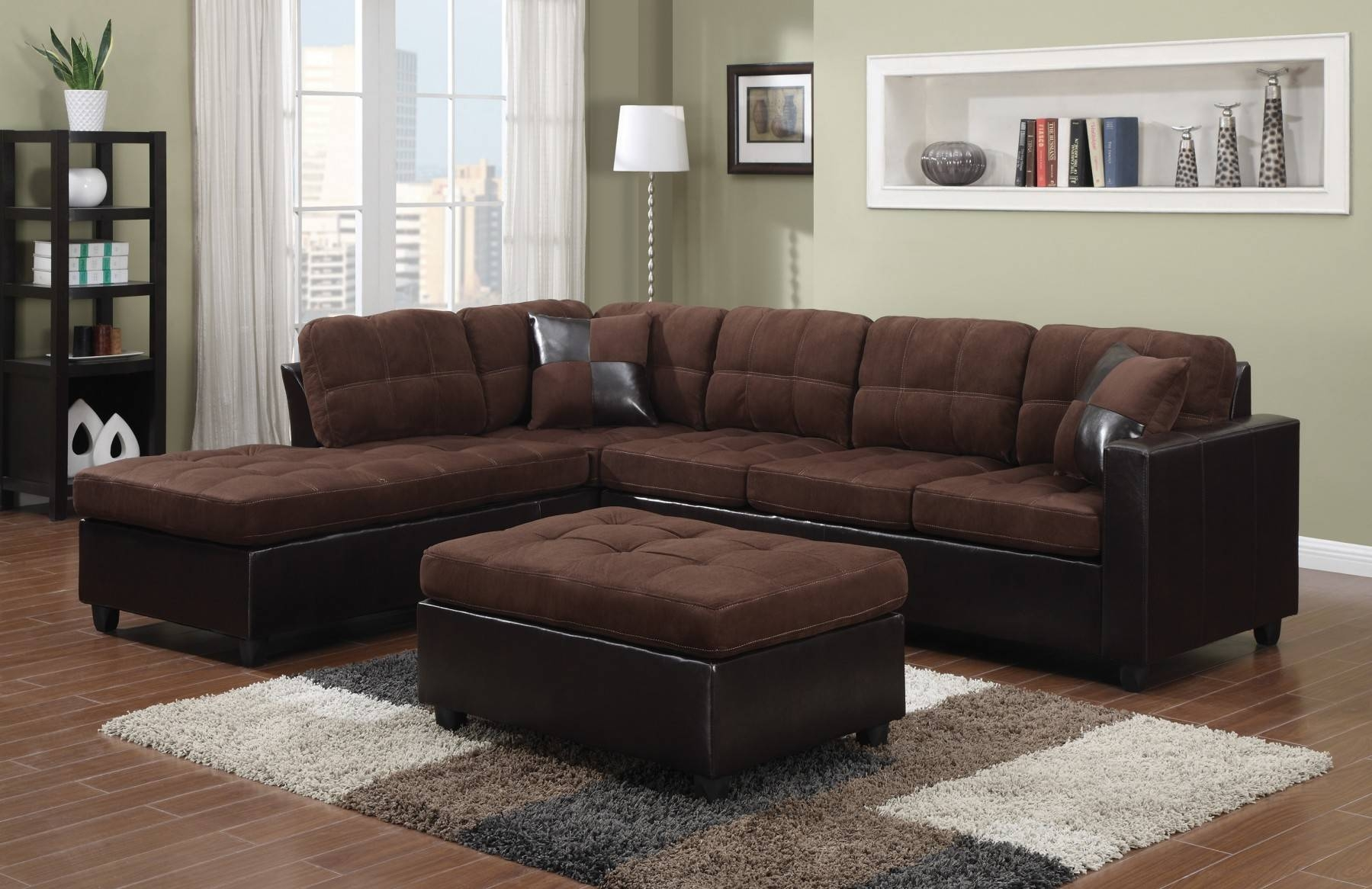 Fascinating Contemporary Black Leather Sectional Sofa Left Side regarding Closeout Sectional Sofas (Image 11 of 30)