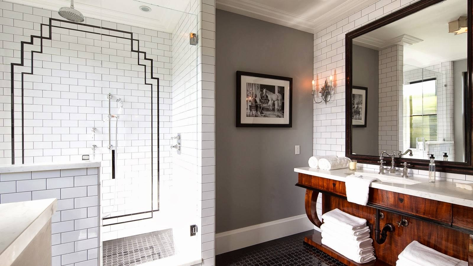 Fascinating Home Bathroom In Small Space For Apartment Ideas with regard to Large Art Deco Wall Mirrors (Image 16 of 25)