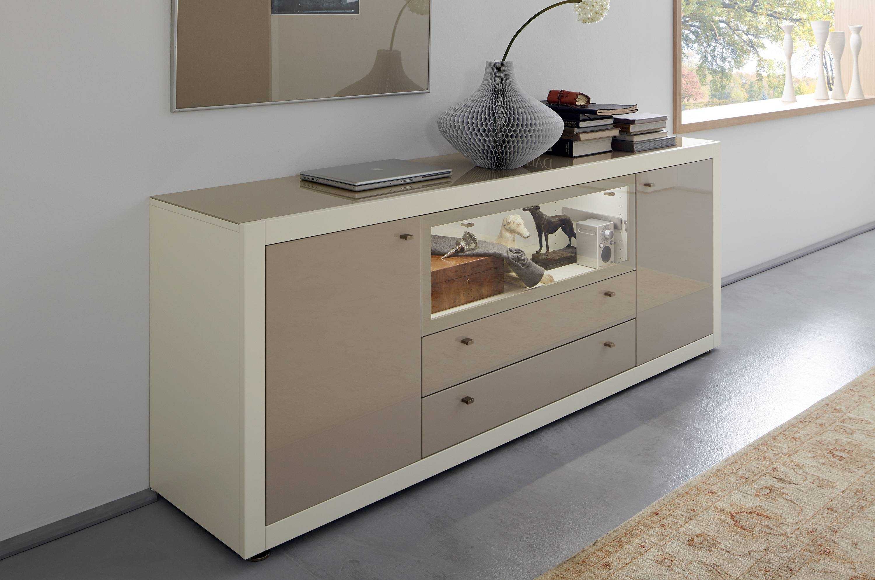 Fascinating Modular Grey Oak Sideboard Design With Four Cabinet within Dark Grey Sideboards (Image 12 of 30)