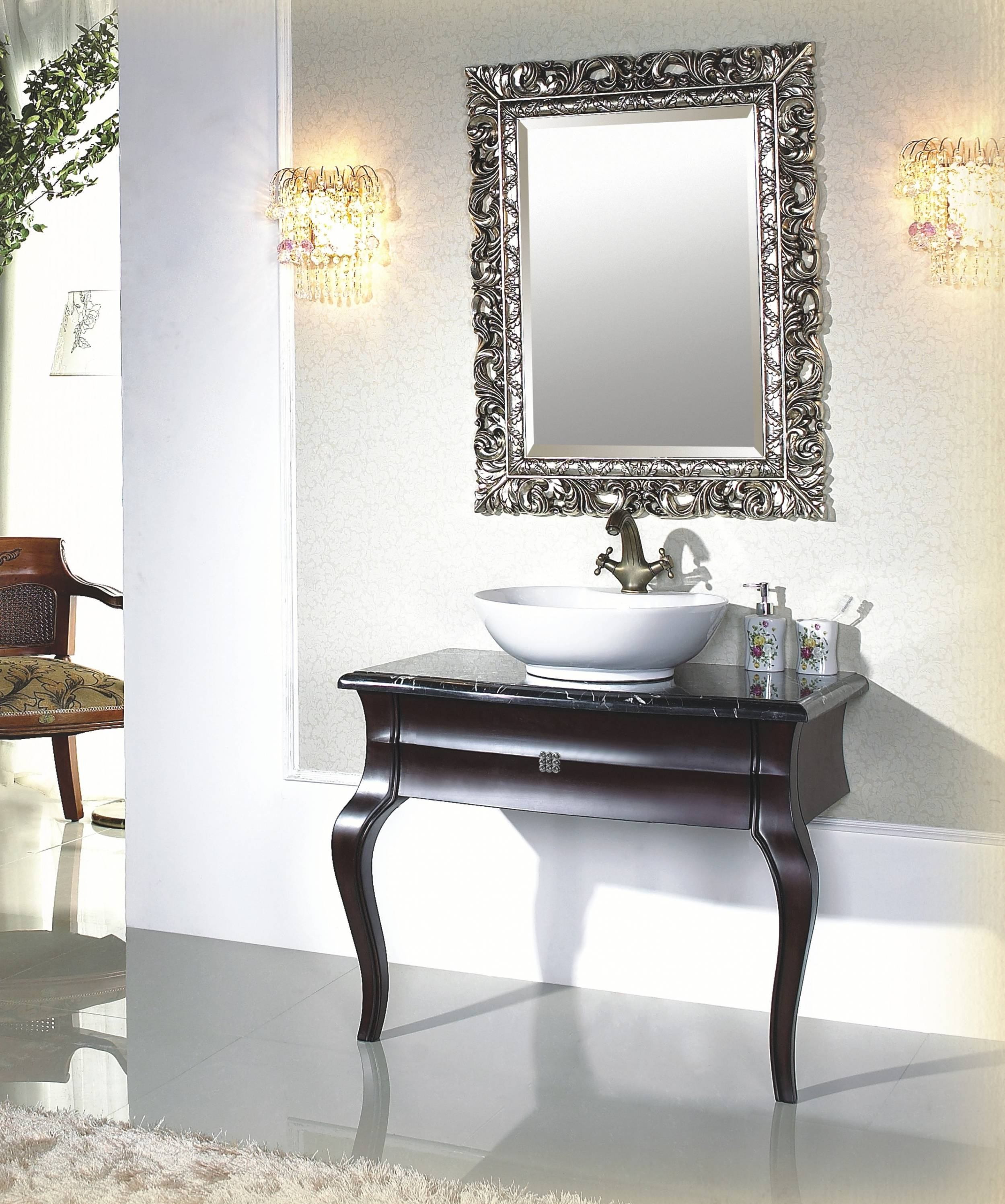 Fashionable Antique Bathroom Mirror 14 Best Vintage Light And Pertaining To Style Mirrors