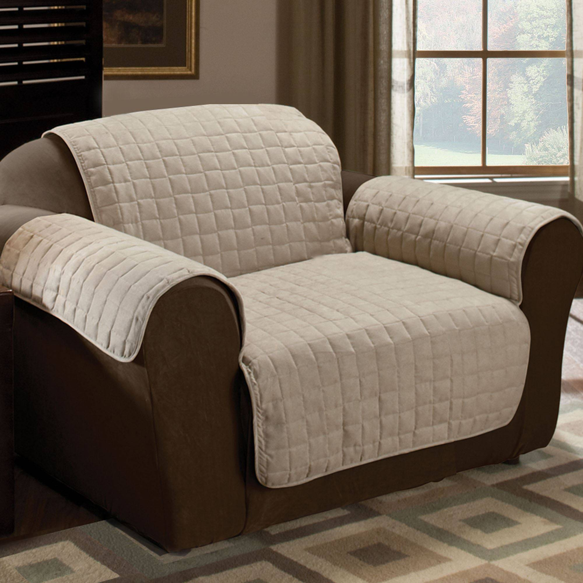 Faux Suede Pet Furniture Covers For Sofas, Loveseats, And Chairs Pertaining To Covers For Sofas And Chairs (View 5 of 15)