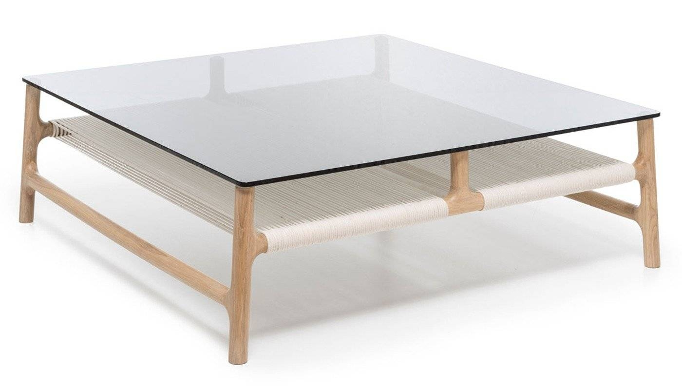 Fawn Coffee Table Oak & Grey Glass for Oak and Glass Coffee Tables (Image 9 of 30)
