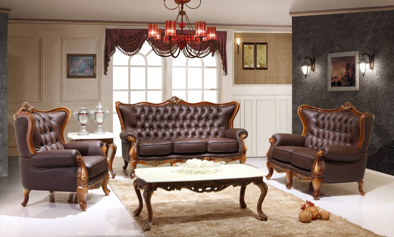 Featured Item – Leather Victorian Living Room 995 | Victorian in Victorian Leather Sofas (Image 3 of 30)