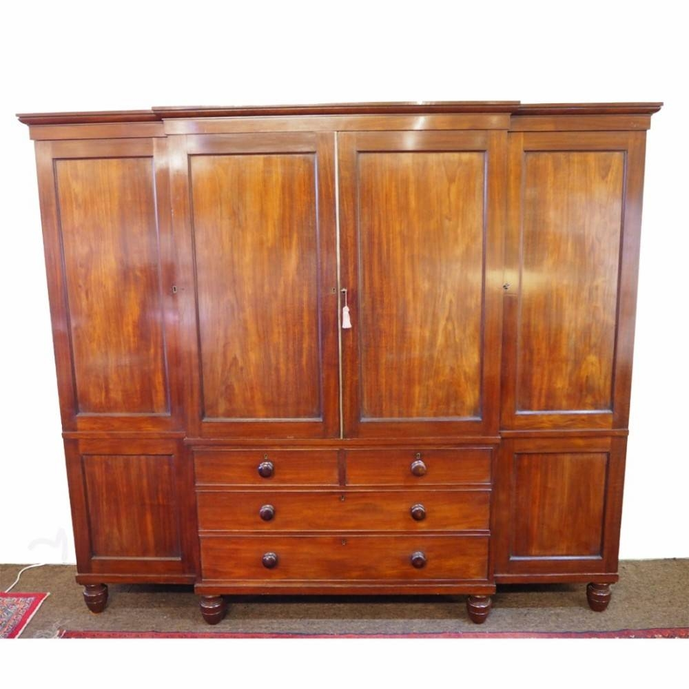 Fine Gillows Mahogany Breakfront Wardrobe | 446906 within Mahogany Breakfront Wardrobe (Image 9 of 30)