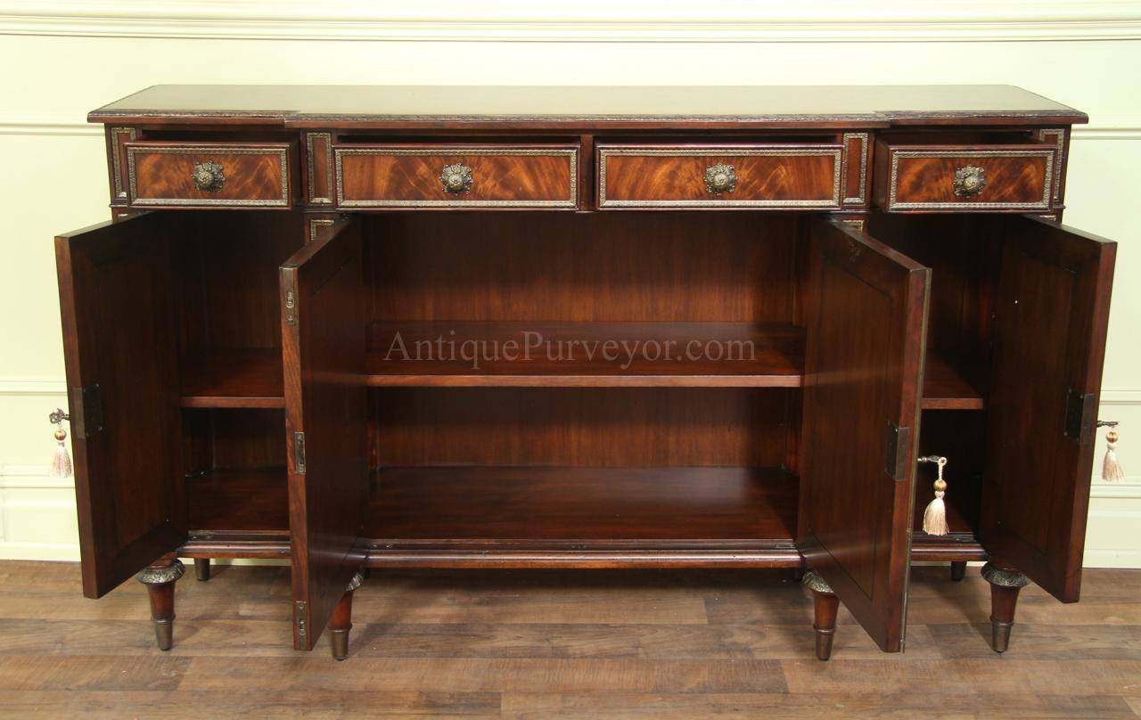 Fine Louis Xvi French Antique Reproduction Dining Cabinet Buffet for 12 Inch Deep Sideboards (Image 10 of 30)