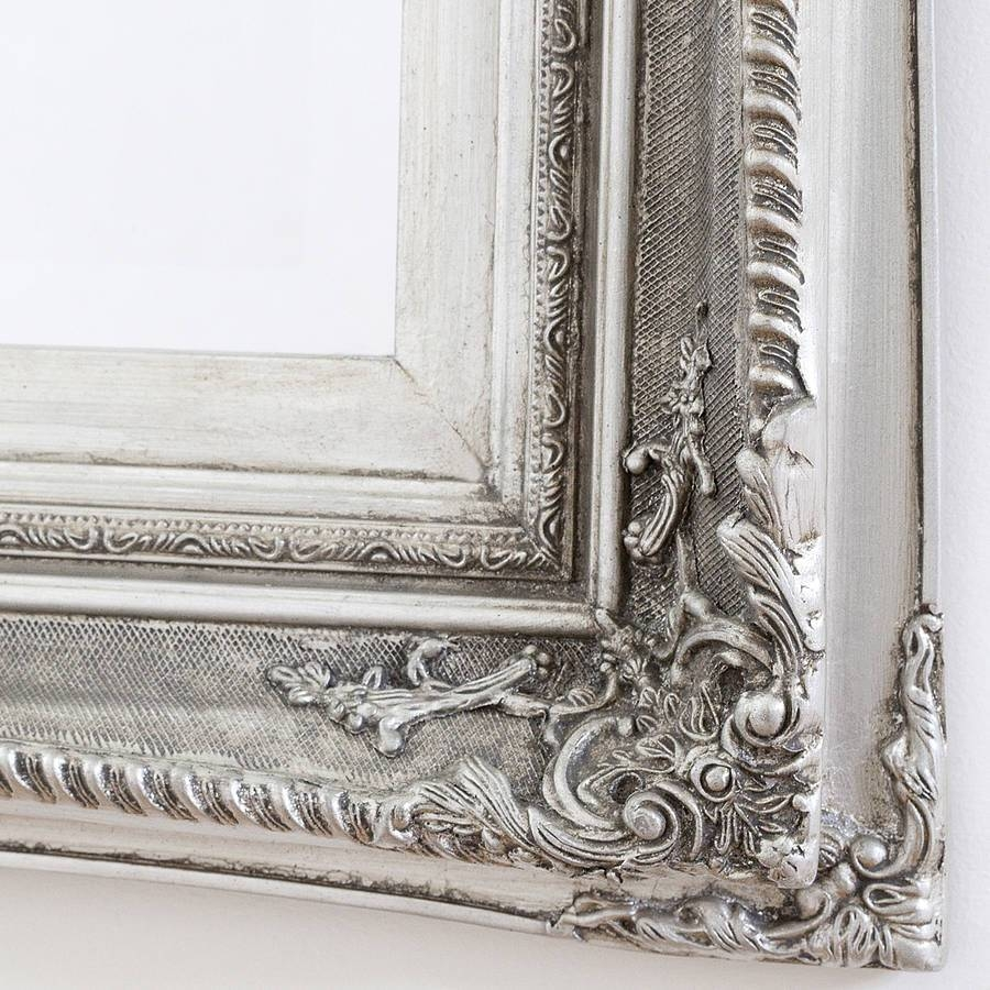 Finely Ornate Silver Mirrordecorative Mirrors Online intended for Ornate Wall Mirrors (Image 14 of 25)