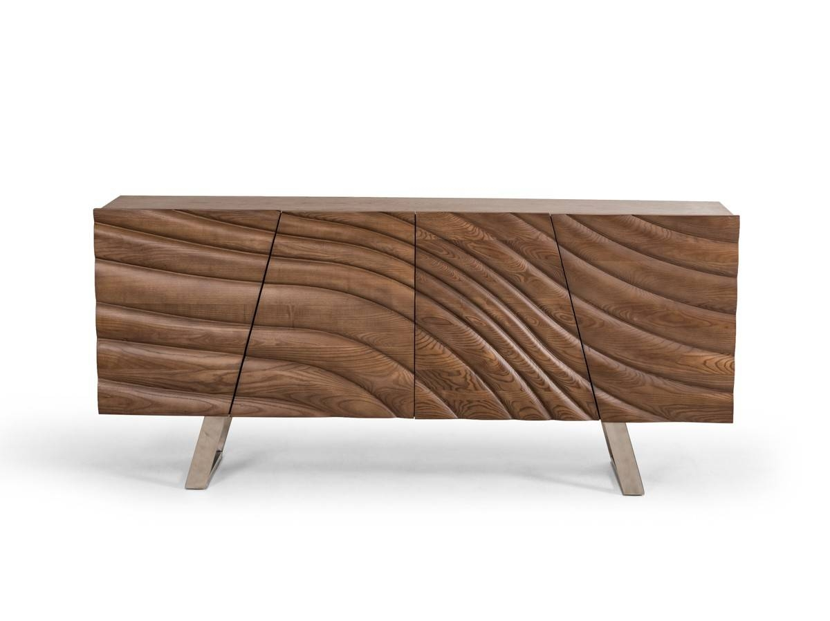 Finley Mid-Century Walnut Buffet throughout Contemporary Wood Sideboards (Image 16 of 30)
