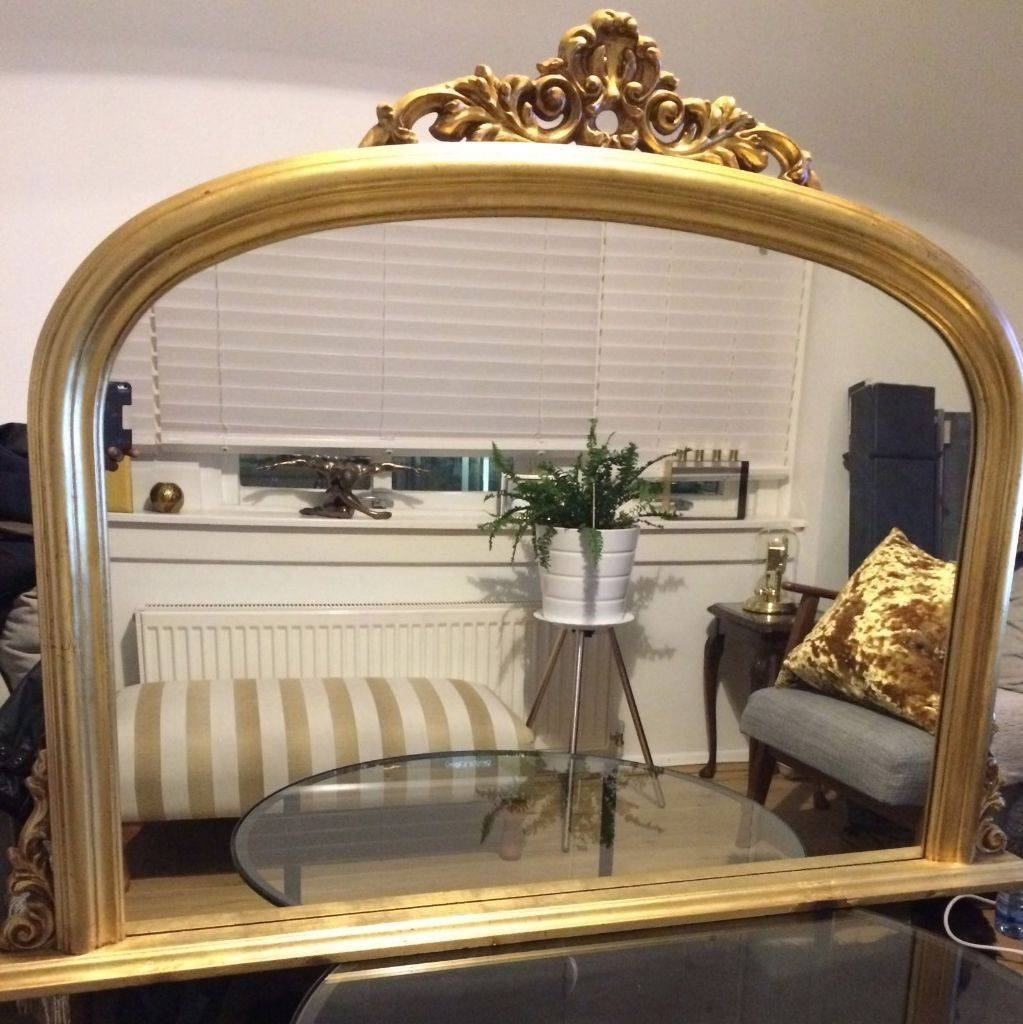Fire Place/fireplace/over Mantle Big/large / Antique/victorian with regard to Gold Arch Mirrors (Image 5 of 25)
