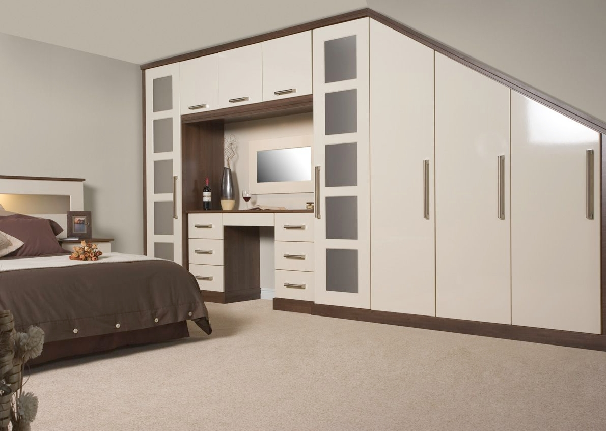 Fitted Bedroom Designs And Colours | Lohan Fitted Furniture inside Cream Gloss Wardrobes (Image 6 of 15)
