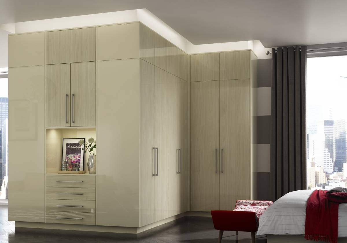 Fitted Bedrooms Northampstonshire - Renaissance Interiors within Cream Gloss Wardrobes (Image 7 of 15)
