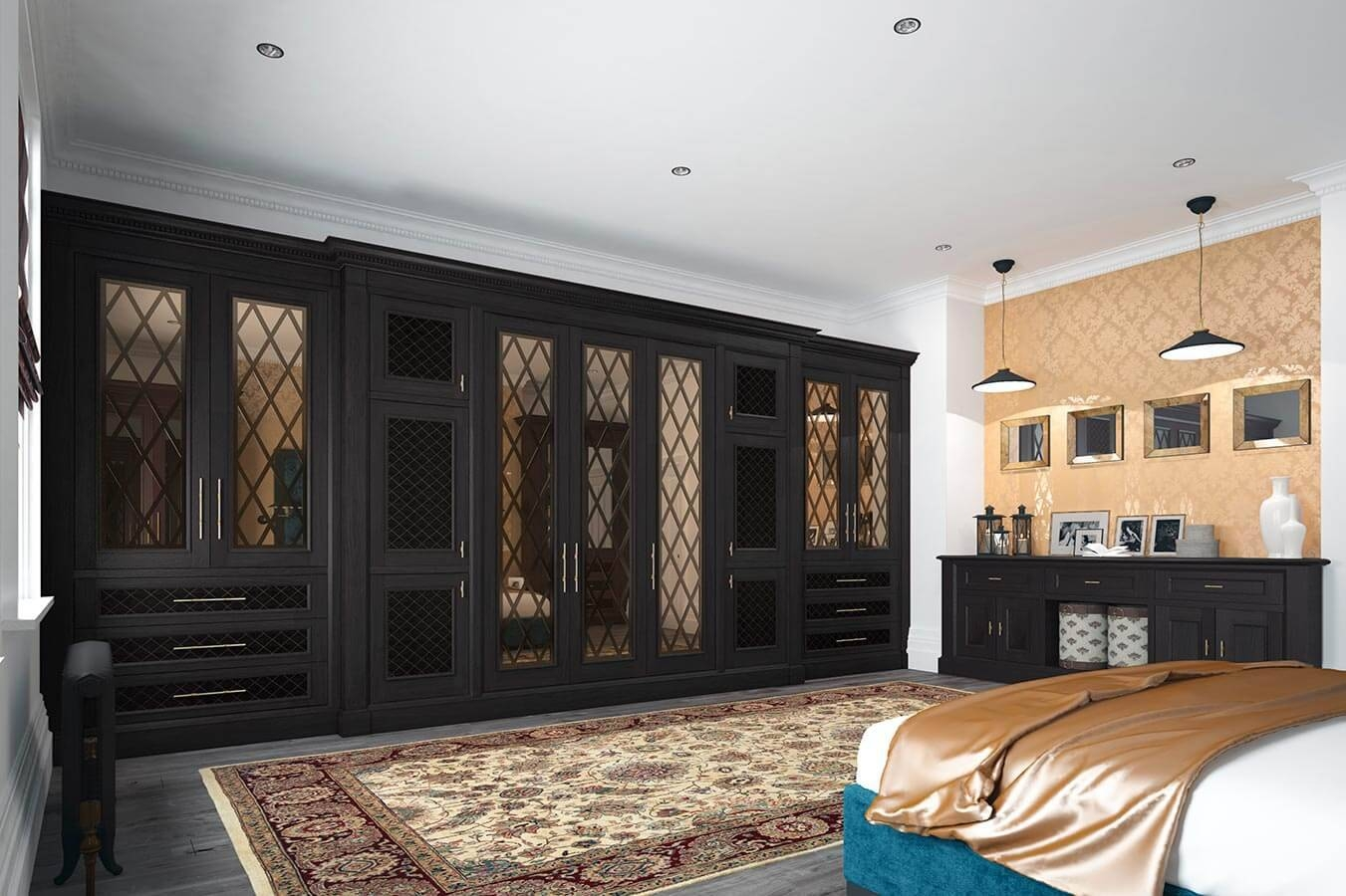 Fitted Bedrooms | Wardrobes, Beds And Chests Of Drawers inside Dark Wardrobes (Image 10 of 30)