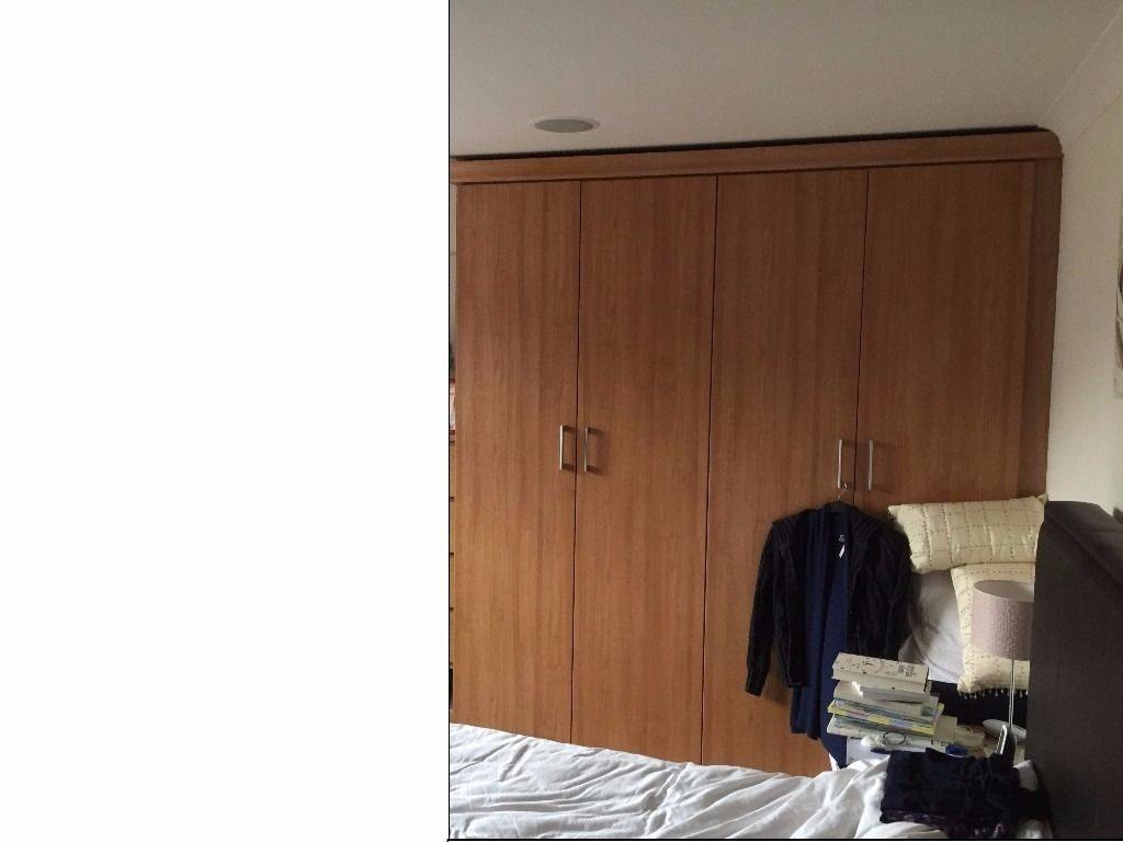 Fitted Beech 4 Door Wardrobes 2 Metres Width X 2.28 Metres Tall intended for Double Rail Wardrobes (Image 9 of 30)