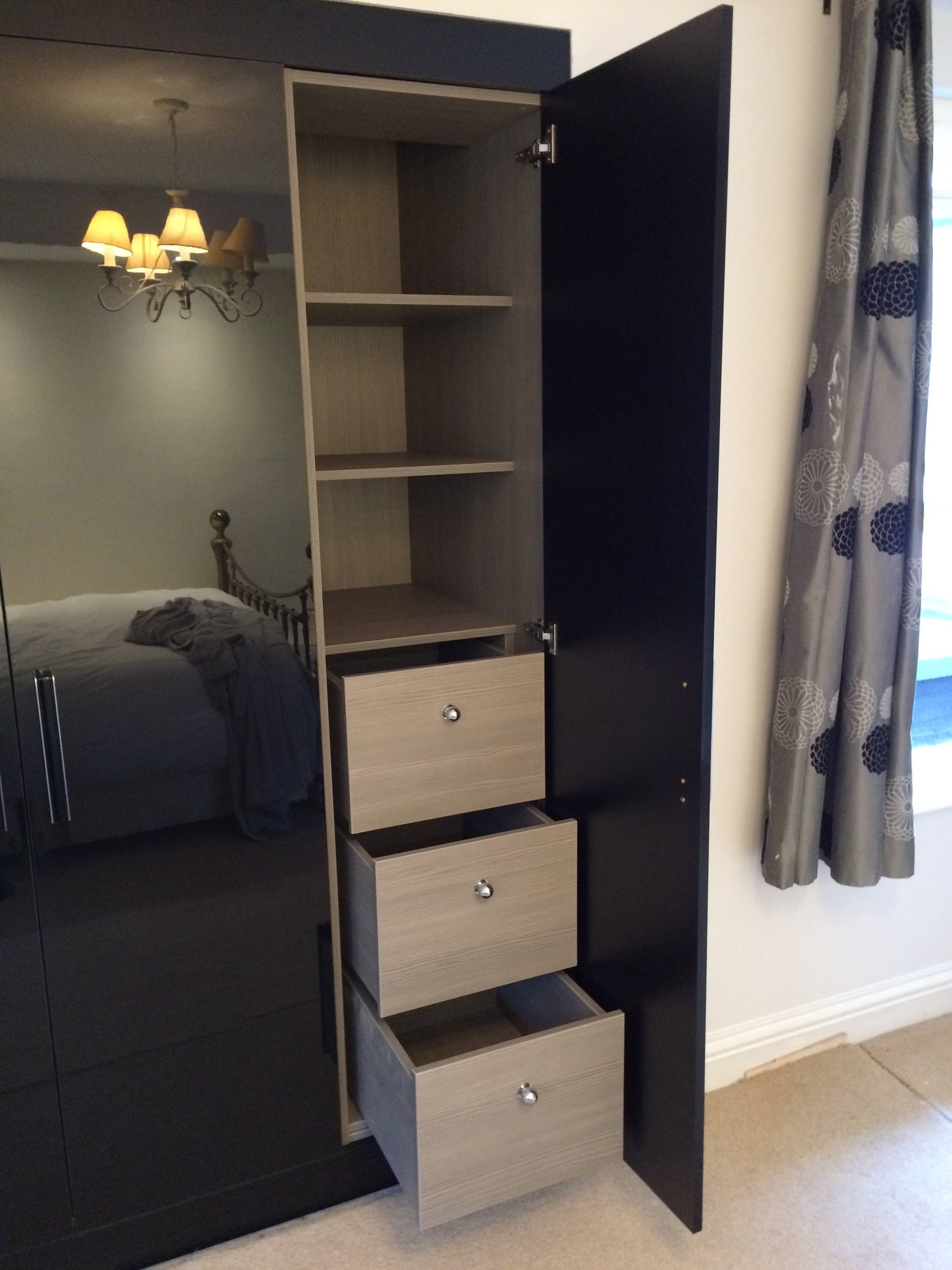 Fitted Black Gloss Wardrobes | The Little Woodshed pertaining to Gloss Black Wardrobes (Image 4 of 15)