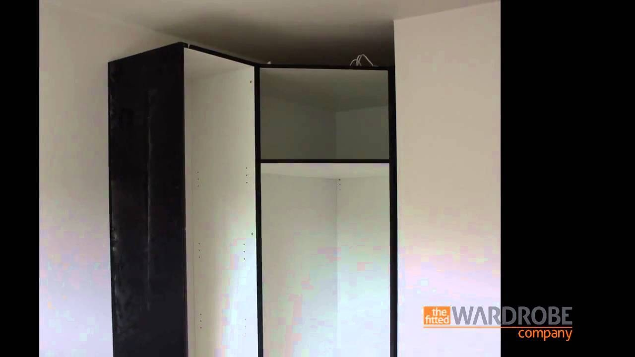 Fitted Corner Wardrobe High Gloss Black - Youtube intended for White Corner Wardrobes Units (Image 9 of 15)