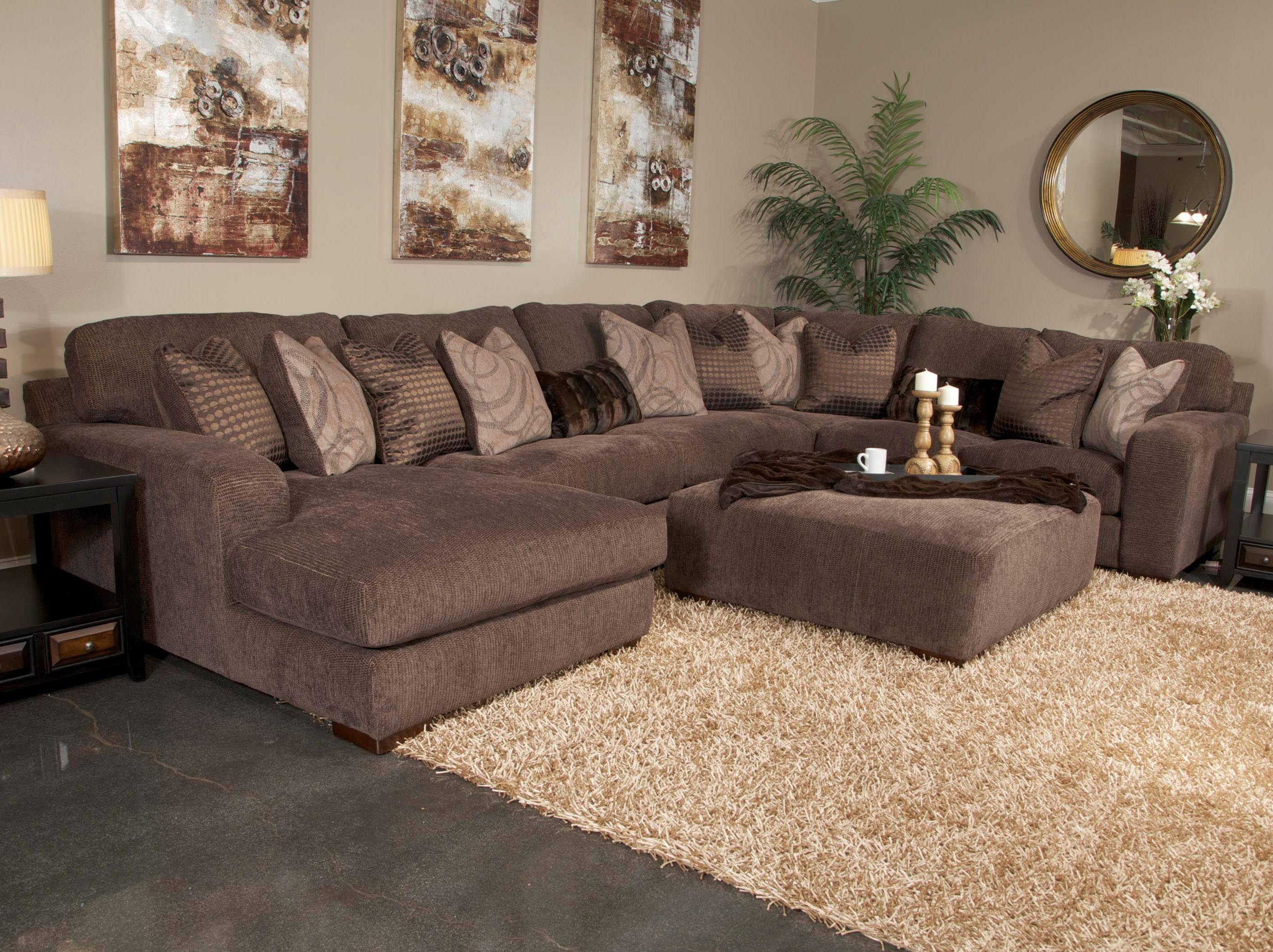 Five Seat Sectional Sofa With Chaise On Left Sidejackson for 2 Seat Sectional Sofas (Image 13 of 30)