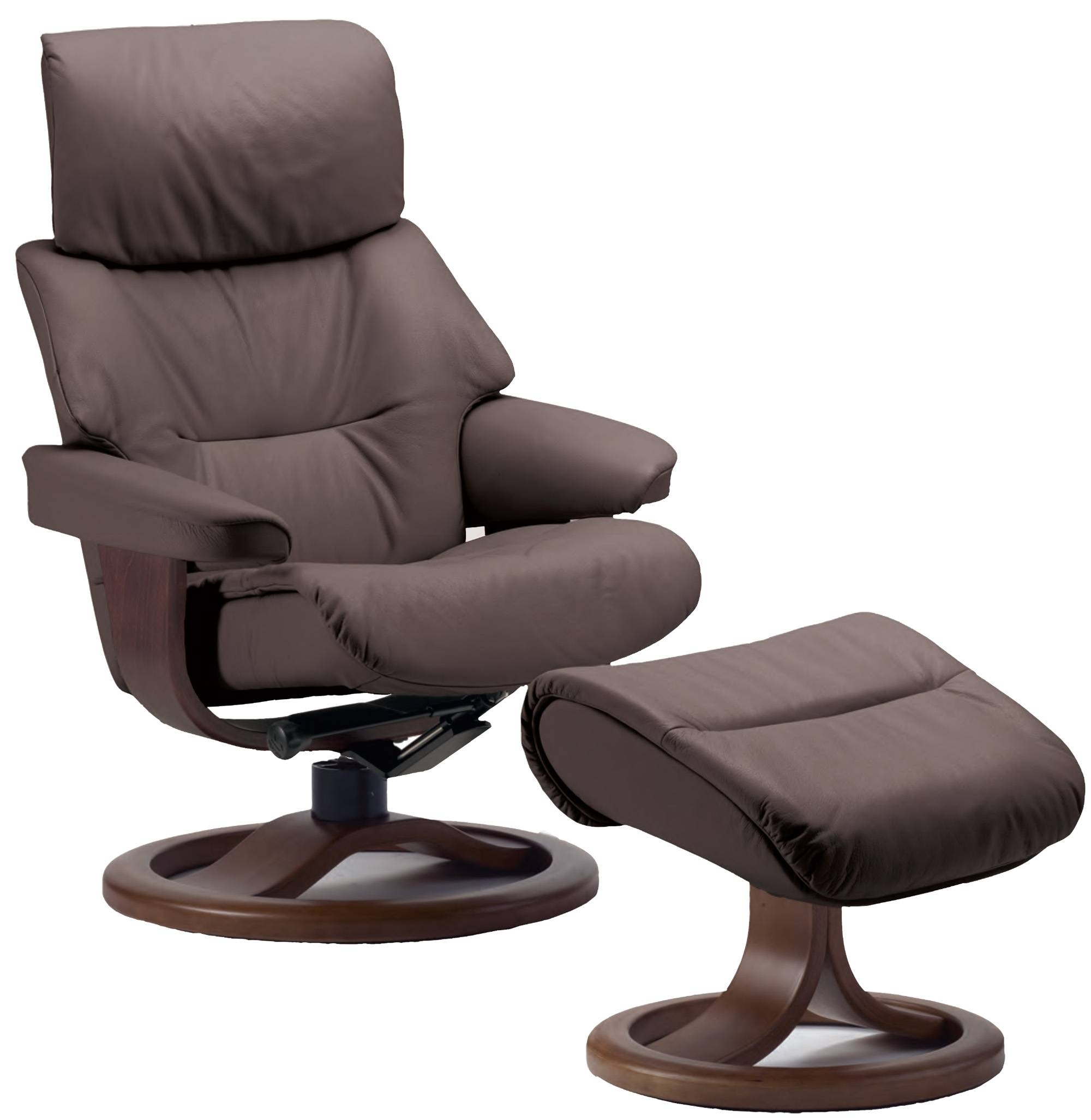 Fjords Grip Ergonomic Leather Recliner Chair + Ottoman for Ergonomic Sofas and Chairs (Image 17 of 30)