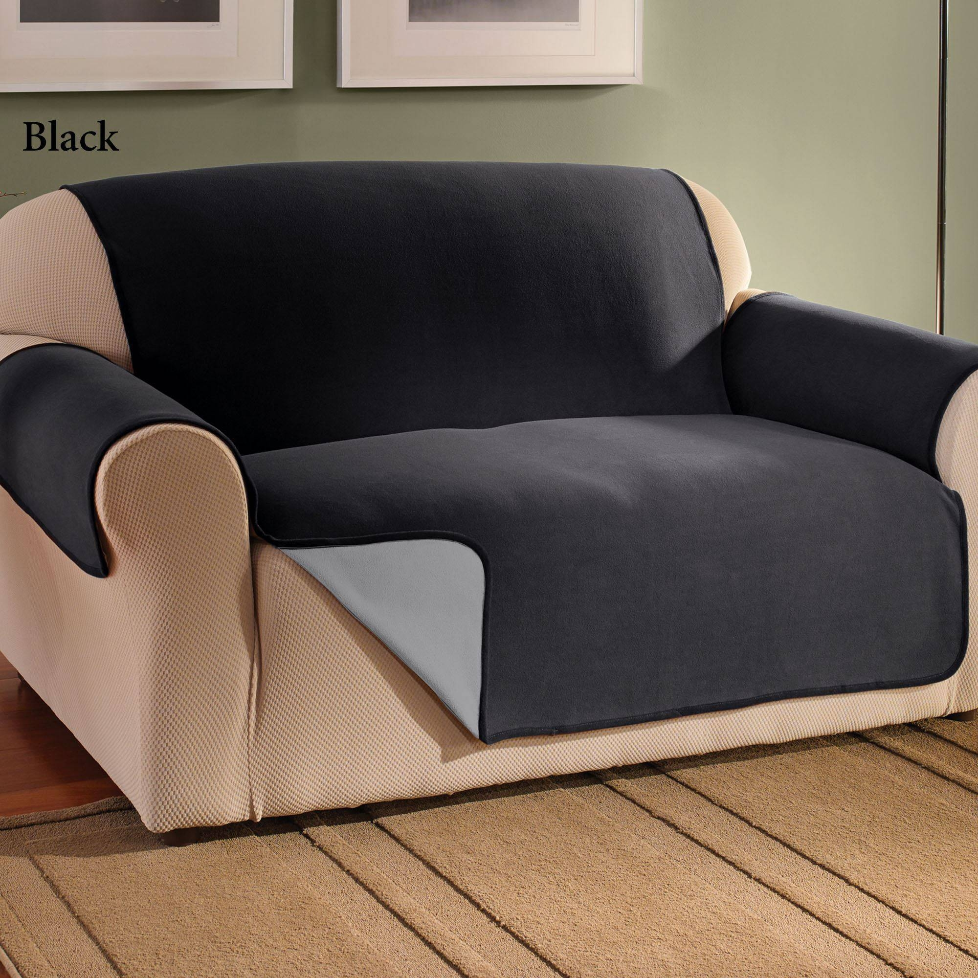 Fleece Reversible Pet Furniture Sofa Covers inside Slipcover For Leather Sofas (Image 6 of 30)