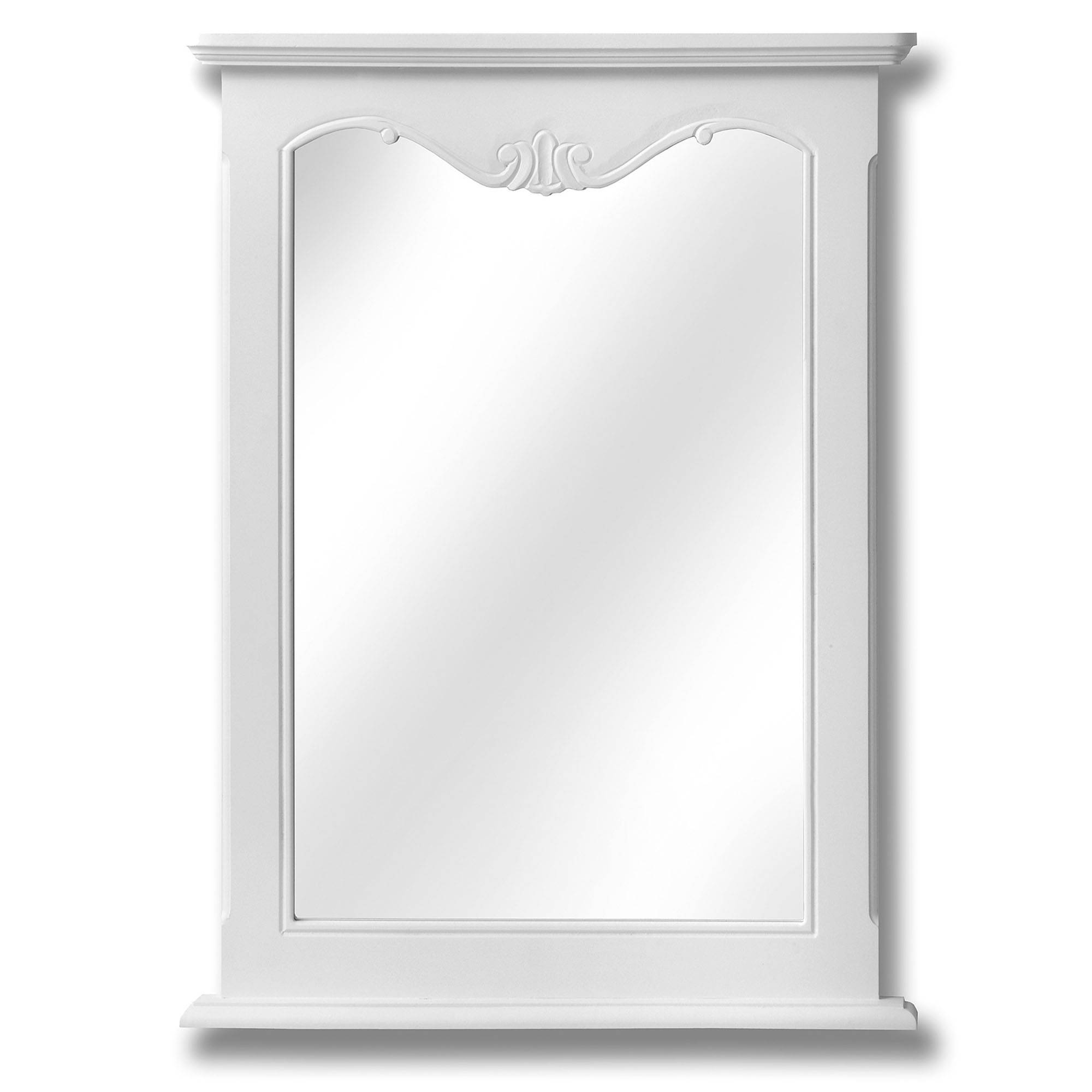 Fleur White Shabby Chic Wall Mirror | Mirrors | Homesdirect365 throughout White Shabby Chic Wall Mirrors (Image 5 of 25)