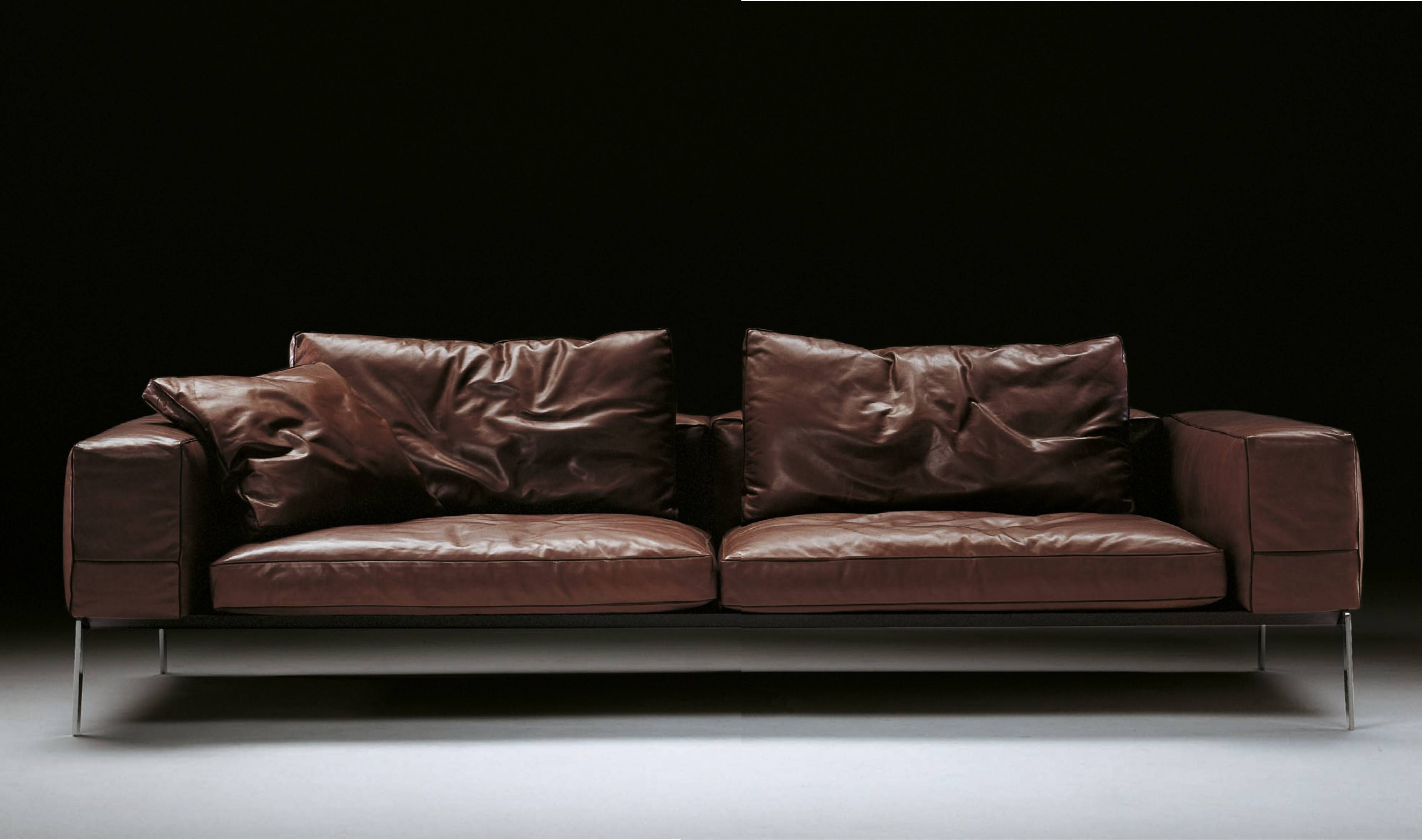Flexform Lifesteel Sofa - Flexform Furniture - Leather Sofas inside Flexform Sofas (Image 9 of 25)