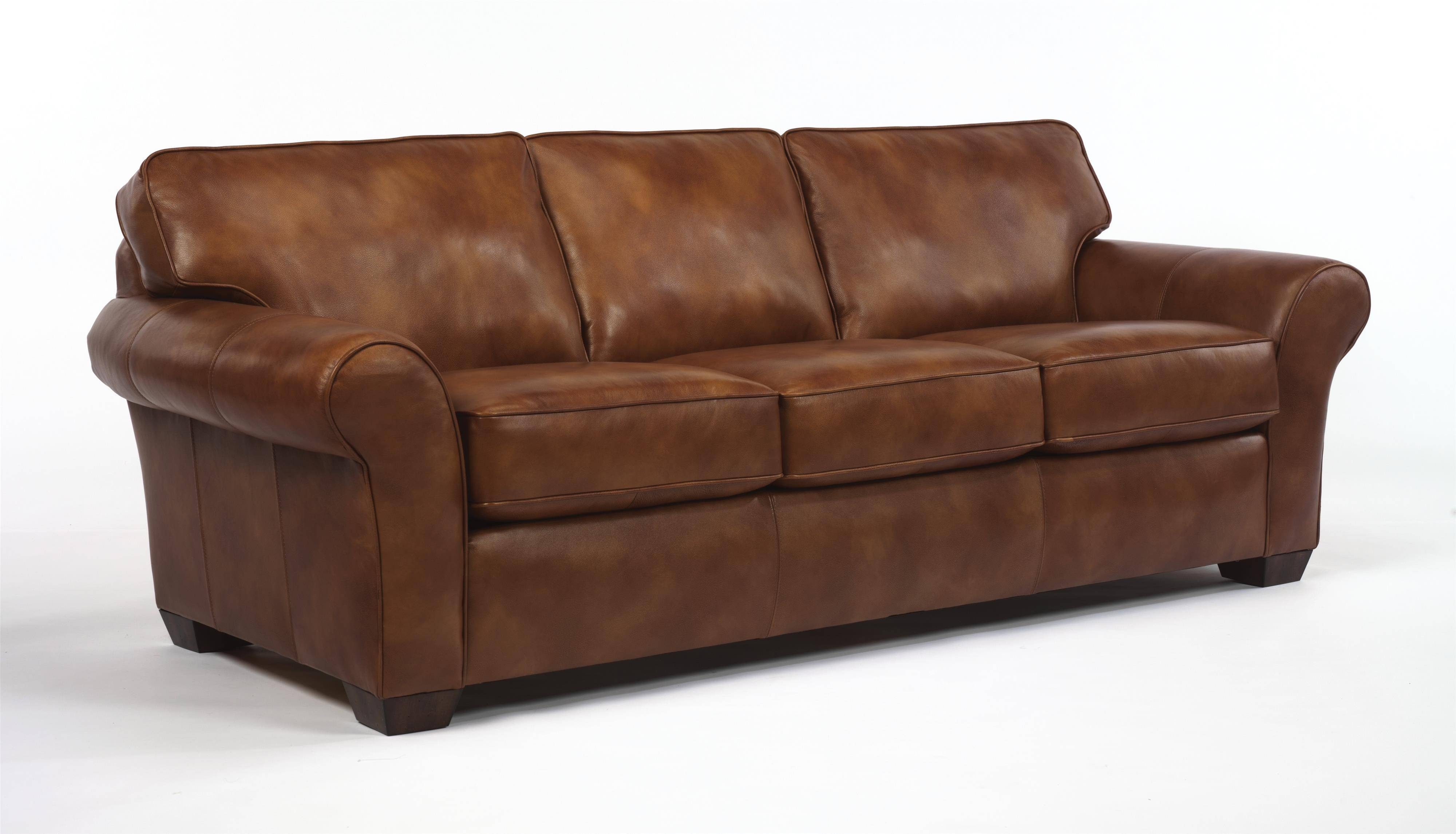 "Flexsteel Vail 91"" Vail Three Cushion Sofa - Dunk & Bright for Cushion Sofa Beds (Image 6 of 30)"