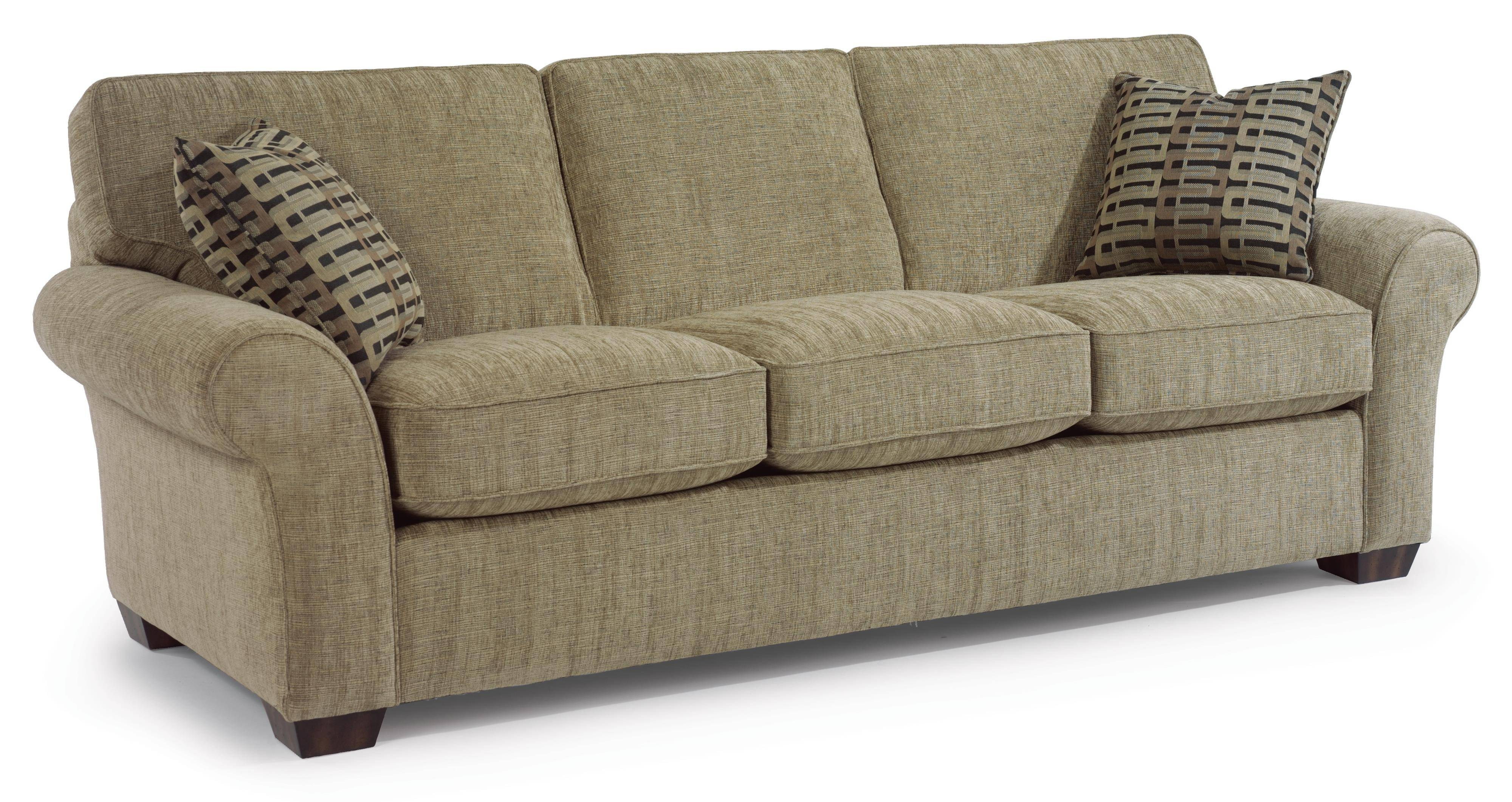 "Flexsteel Vail 91"" Vail Three Cushion Sofa - Wayside Furniture - Sofa throughout Cushion Sofa Beds (Image 7 of 30)"