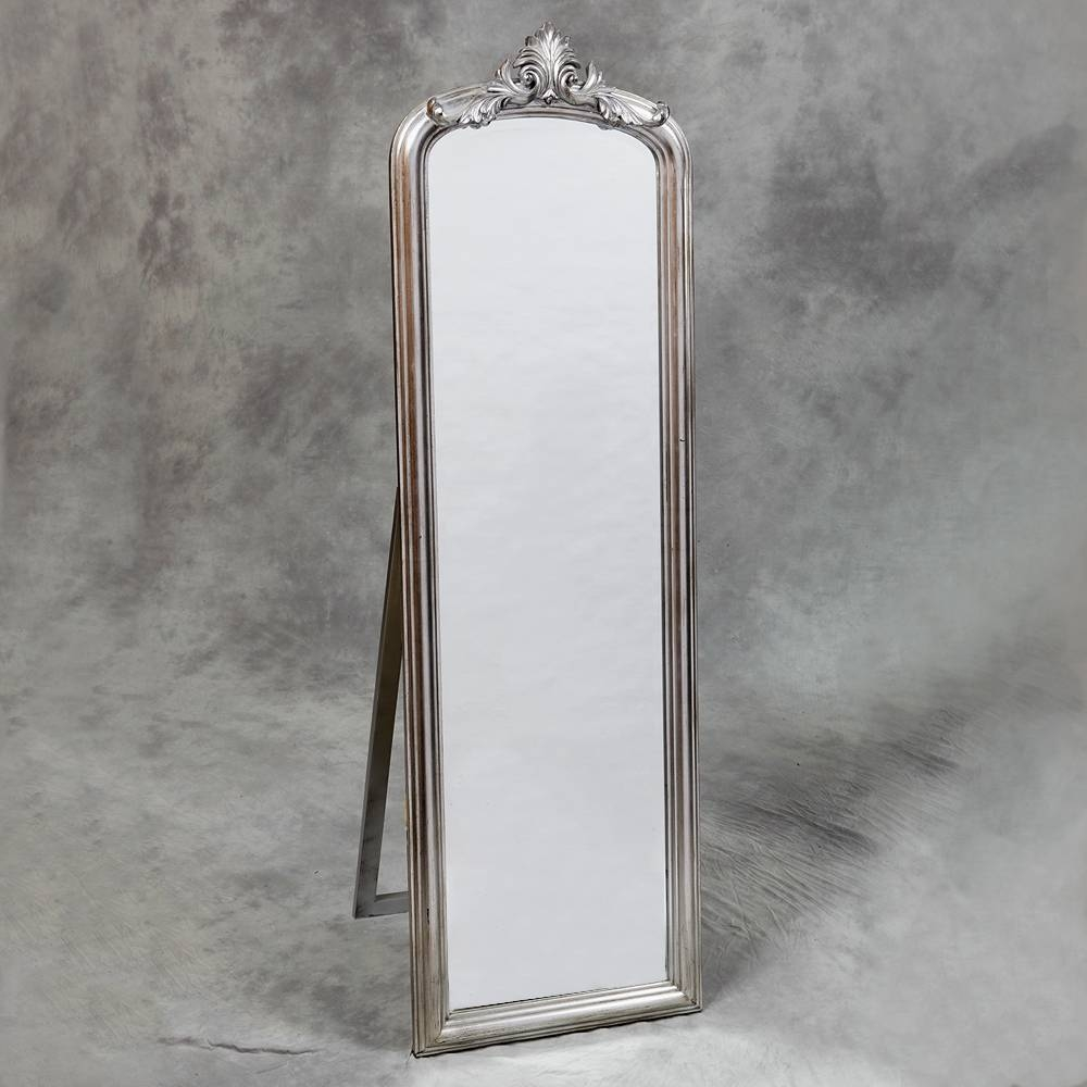 Floor Standing & Cheval - Shades Of Elegance pertaining to Silver Cheval Mirrors (Image 14 of 25)