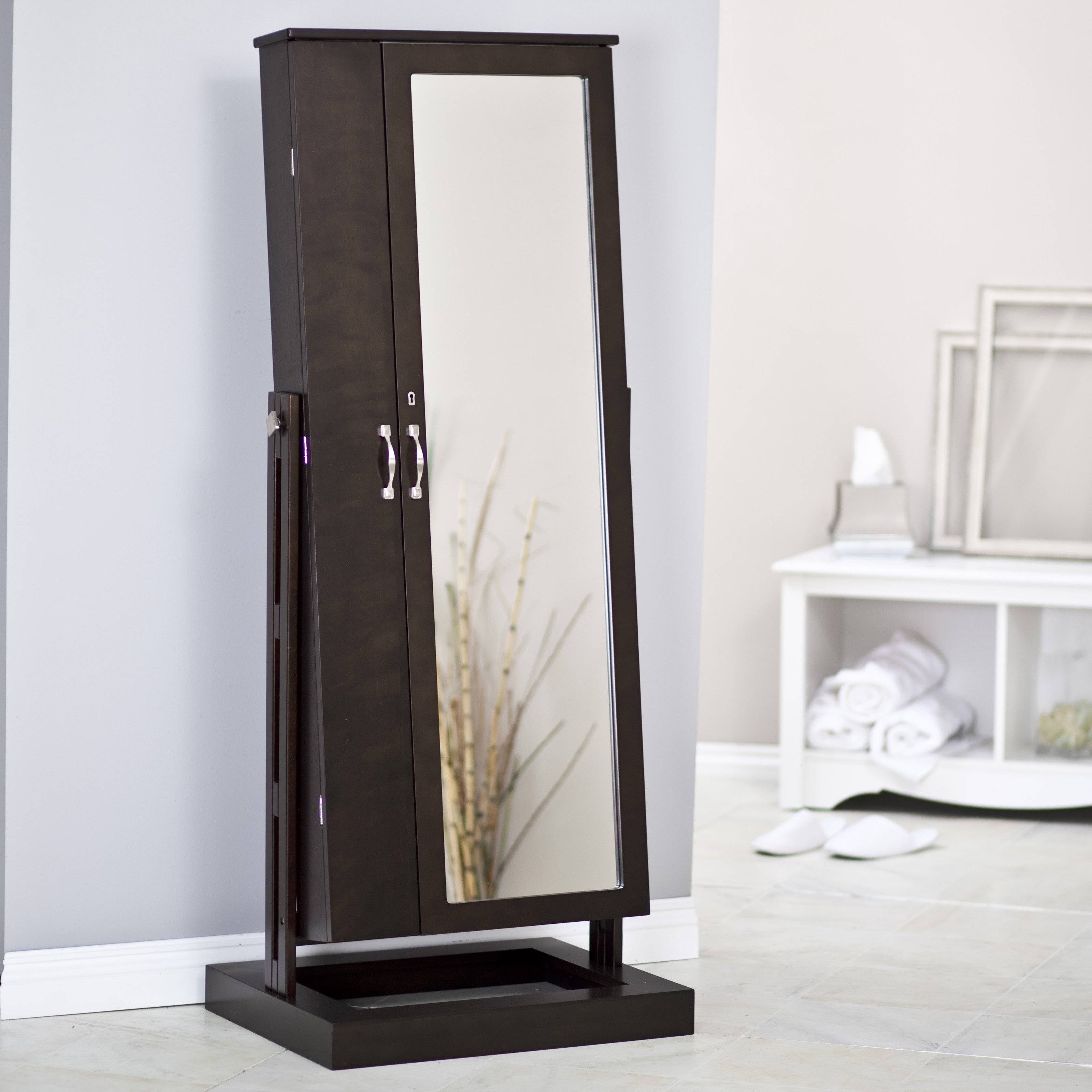 Floor Standing Mirror Jewellery Cabinet – Home Design Ideas And For Modern Cheval Mirrors (View 6 of 25)