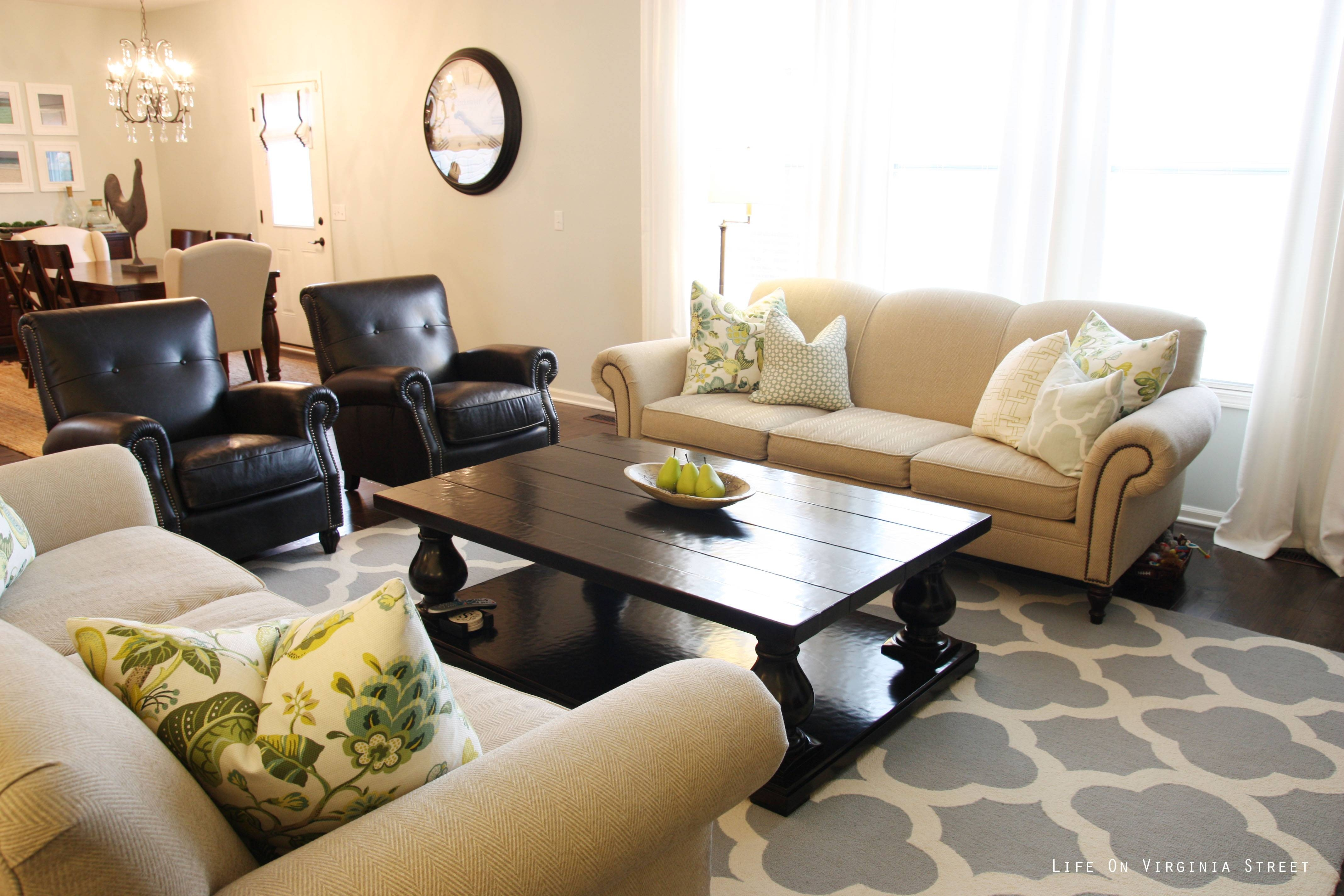 Flooring: Beige Sectional Sofa With Rustic Coffee Table And For Beige Coffee Tables (View 16 of 30)