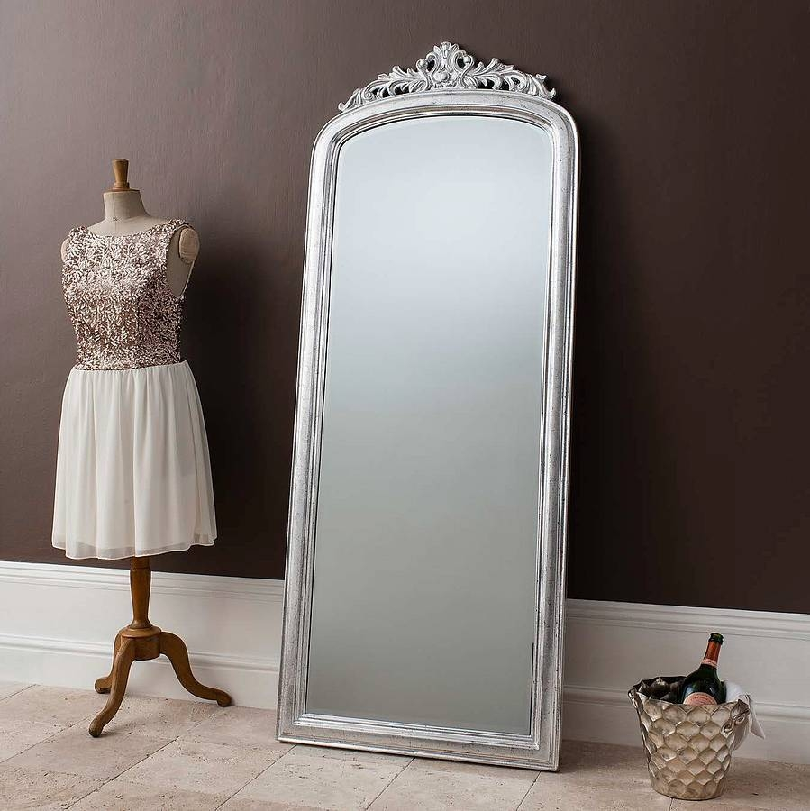 Flooring : Elegant Silver Full Length Mirror Search Mirrors Floor intended for Vintage Full Length Mirrors (Image 16 of 25)