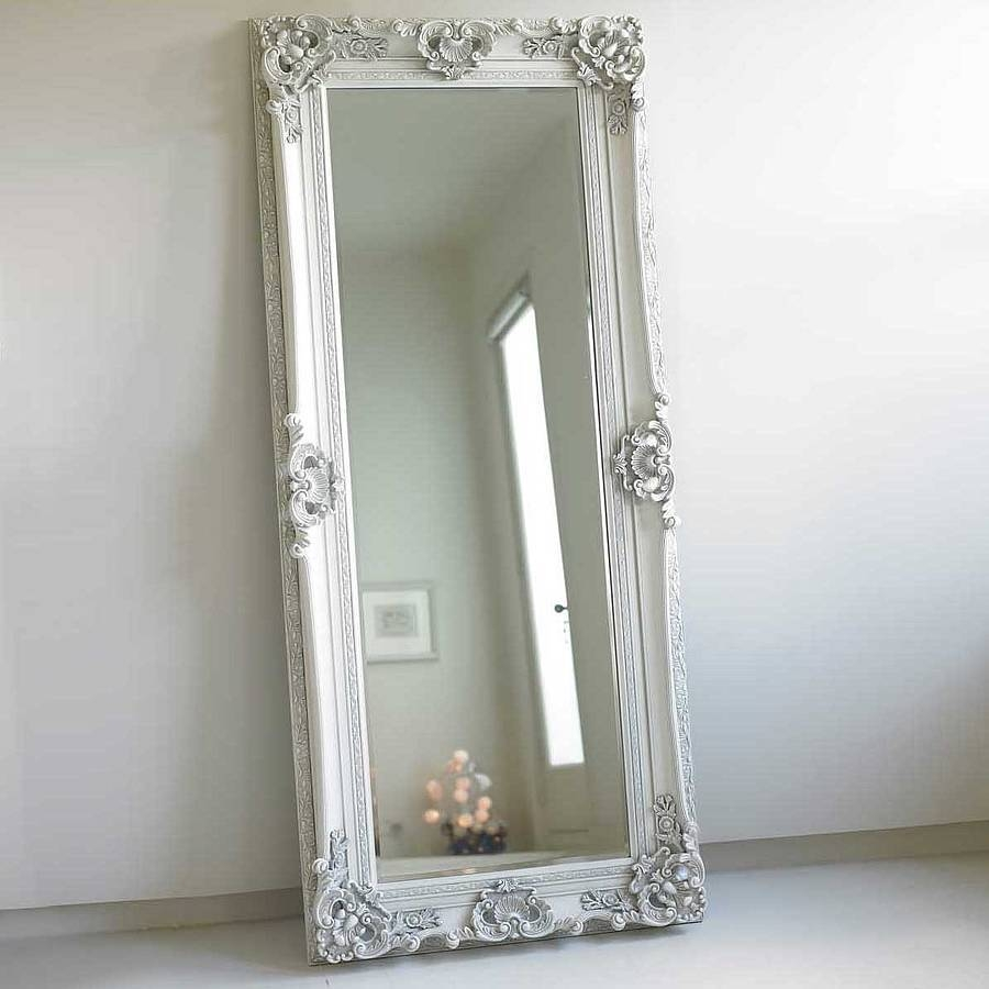 Flooring : Floor Length Mirrors Target For Sale In White With throughout White Shabby Chic Mirrors Sale (Image 13 of 25)