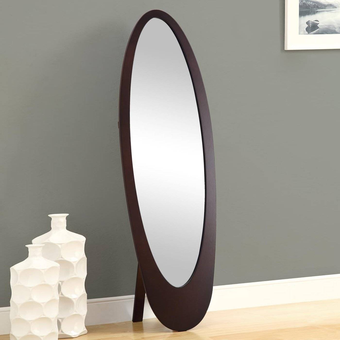 Flooring : Floor Standing Mirror Colibri And Jewelry Armoire With intended for Free Standing Oval Mirrors (Image 11 of 25)