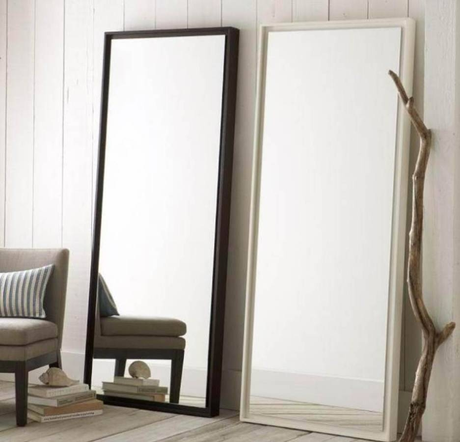Flooring : Flooring Frameless Floor Length Mirror Ikea Standing within Large Floor Length Mirrors (Image 8 of 25)